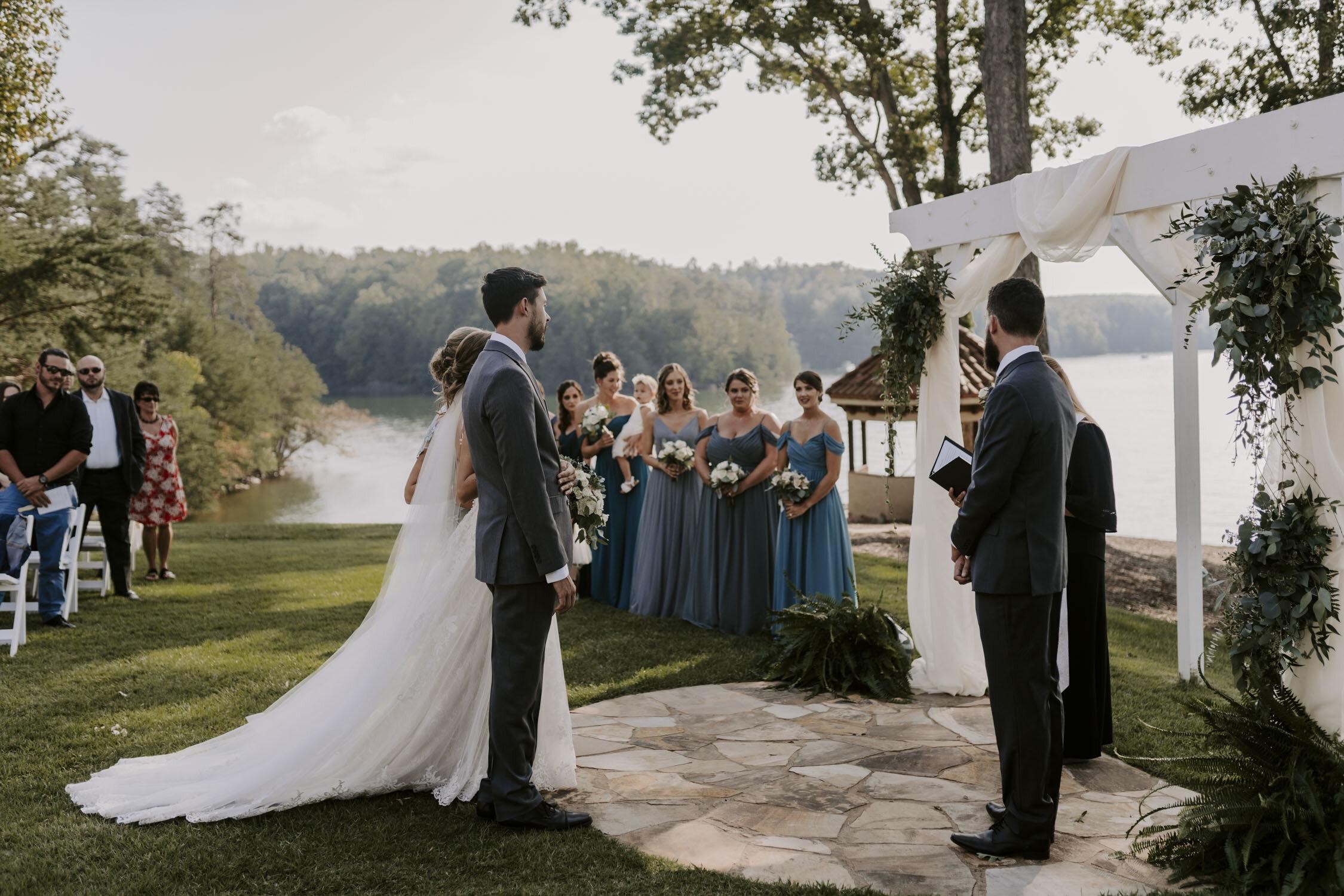Romantic Wedding Ceremony at Bella Collina   By Greensboro, NC Wedding Photographer: Kayli LaFon Photography