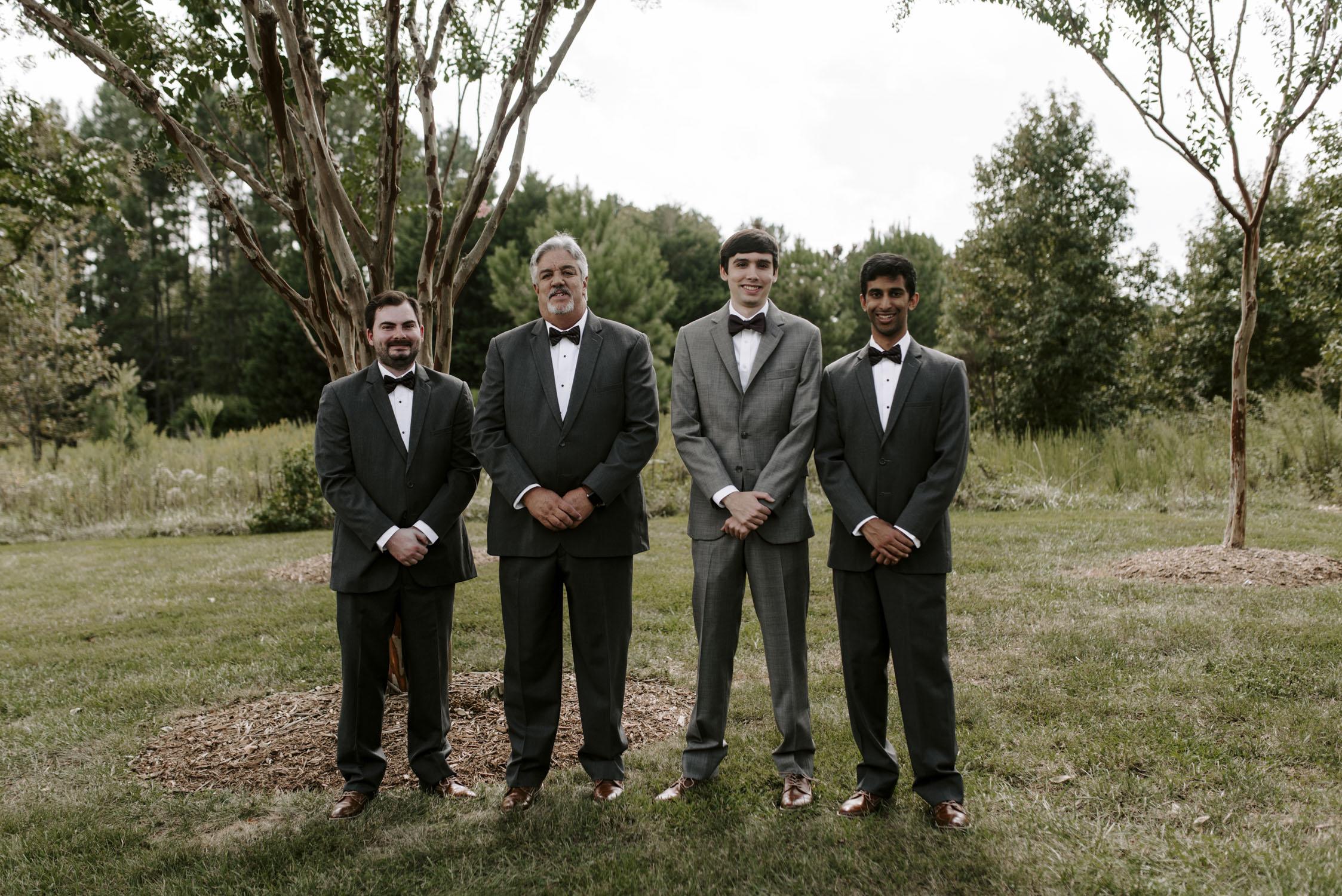 Chapel Hill Wedding Party Groomsmen Portraits | Kayli LaFon Photography, North Carolina Intimate Wedding Photographer