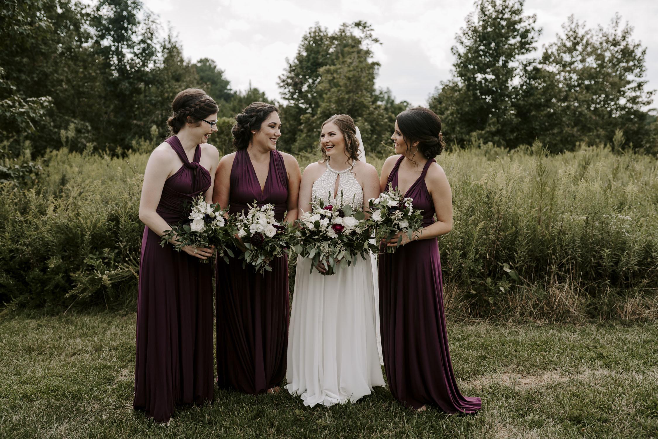 Chapel Hill Wedding Party Bridesmaids Portraits | Kayli LaFon Photography, North Carolina Intimate Wedding Photographer