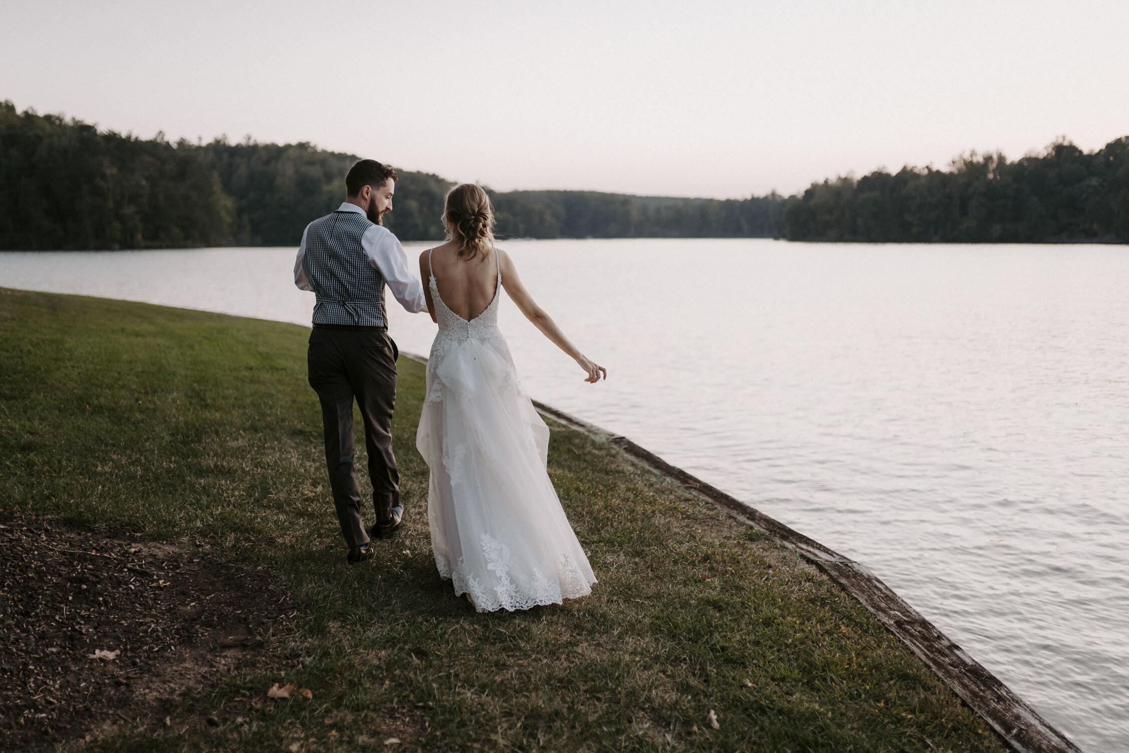 Romantic Bride and Groom Portraits at Bella Collina   By Greensboro, NC Wedding Photographer: Kayli LaFon Photography