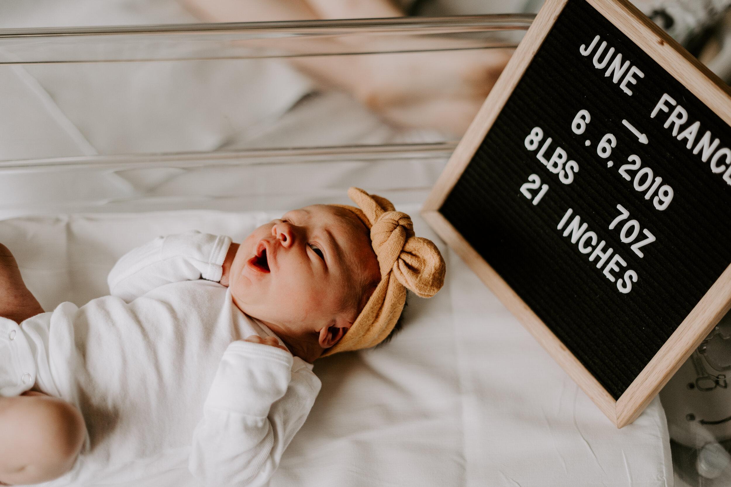 Newborn Fresh 48 Session - Greensboro Winston-Salem NC Hospital Lifestyle Photos by Kayli LaFon Photography