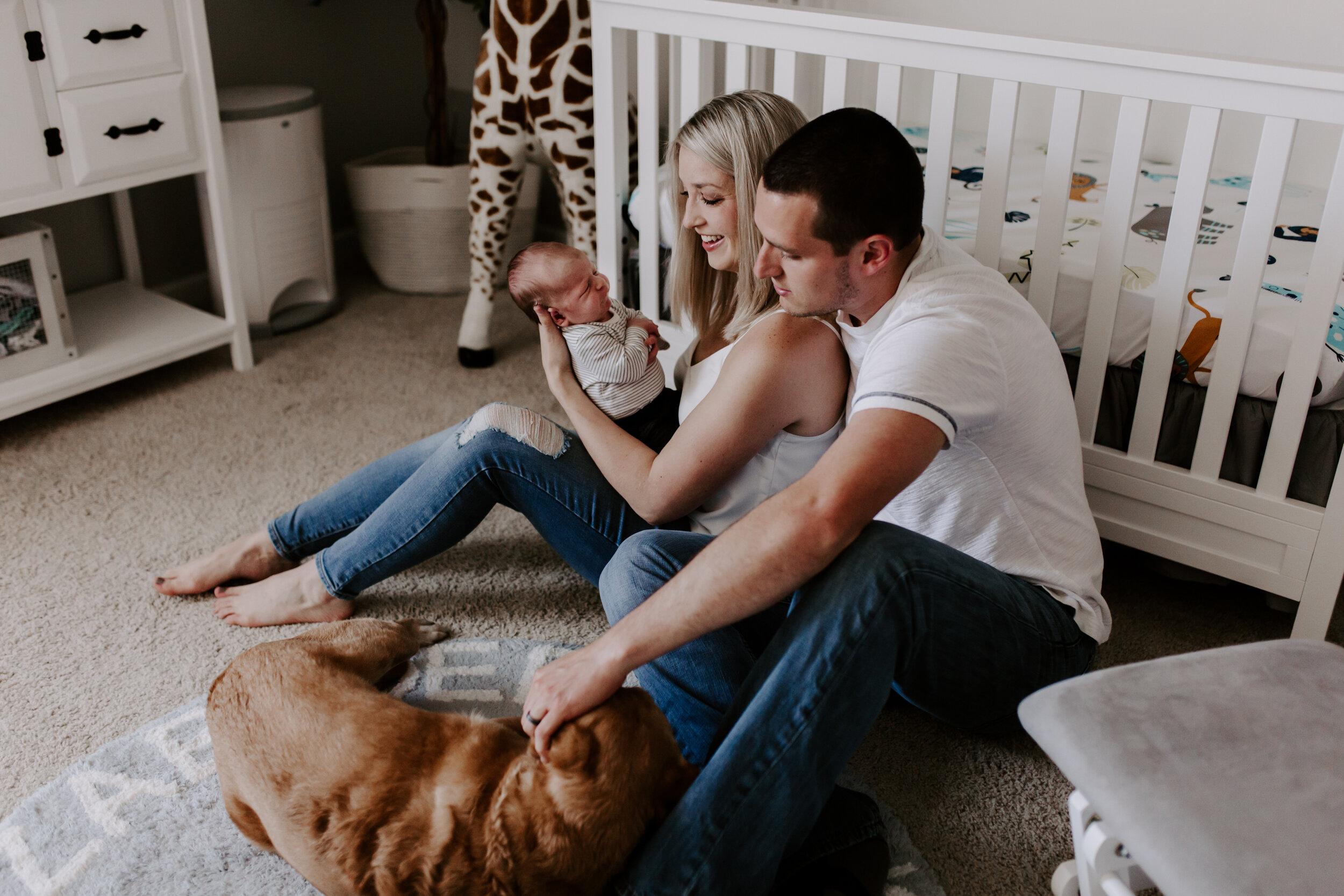 In-Home Newborn Lifestyle Session   Greensboro Winston-Salem, NC Photographer
