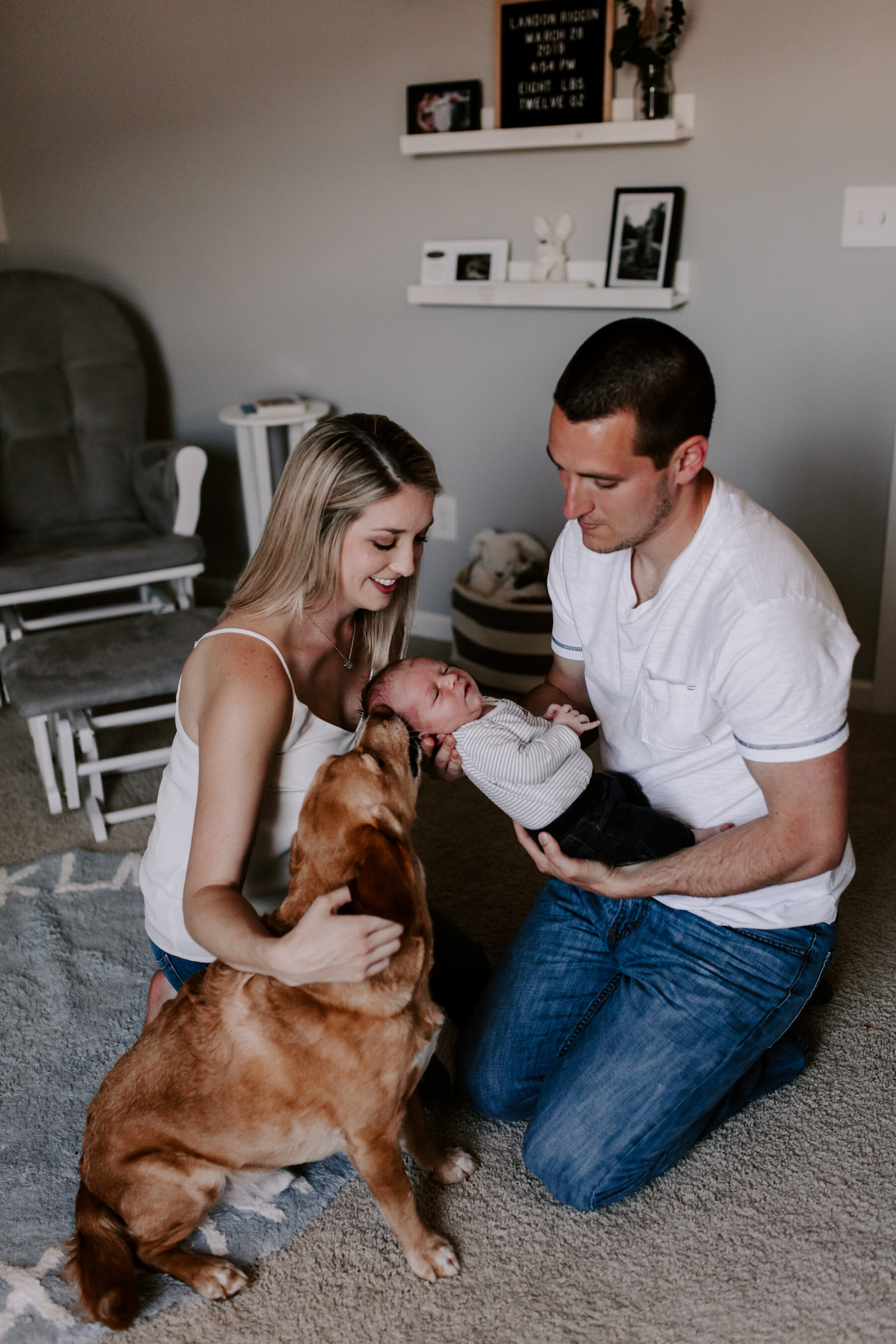 In-Home Newborn Lifestyle Session   Triad, NC Photographer