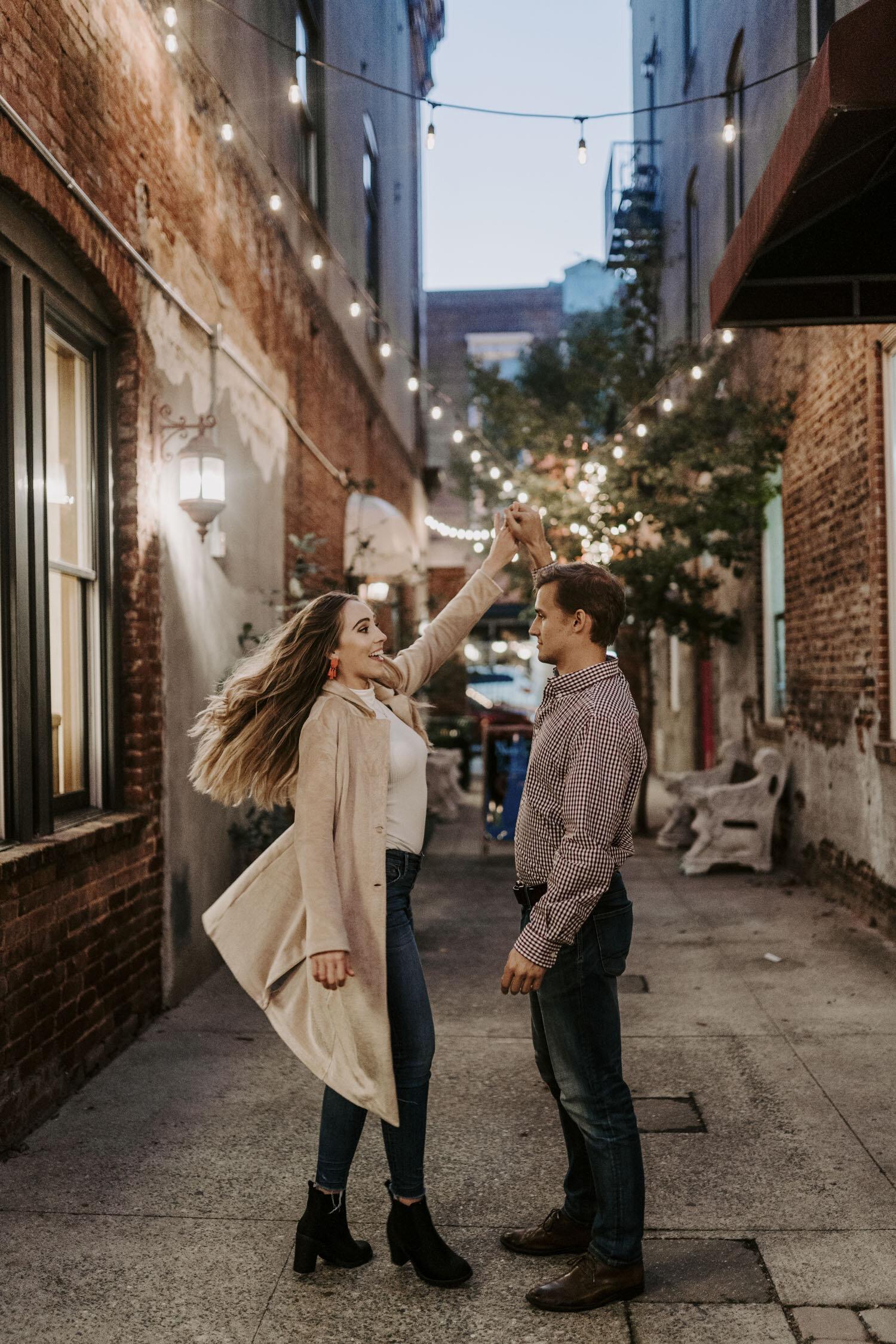 Downtown Greensboro, NC Engagement Session by Kayli LaFon Photography   North Carolina Wedding & Elopement Photographer