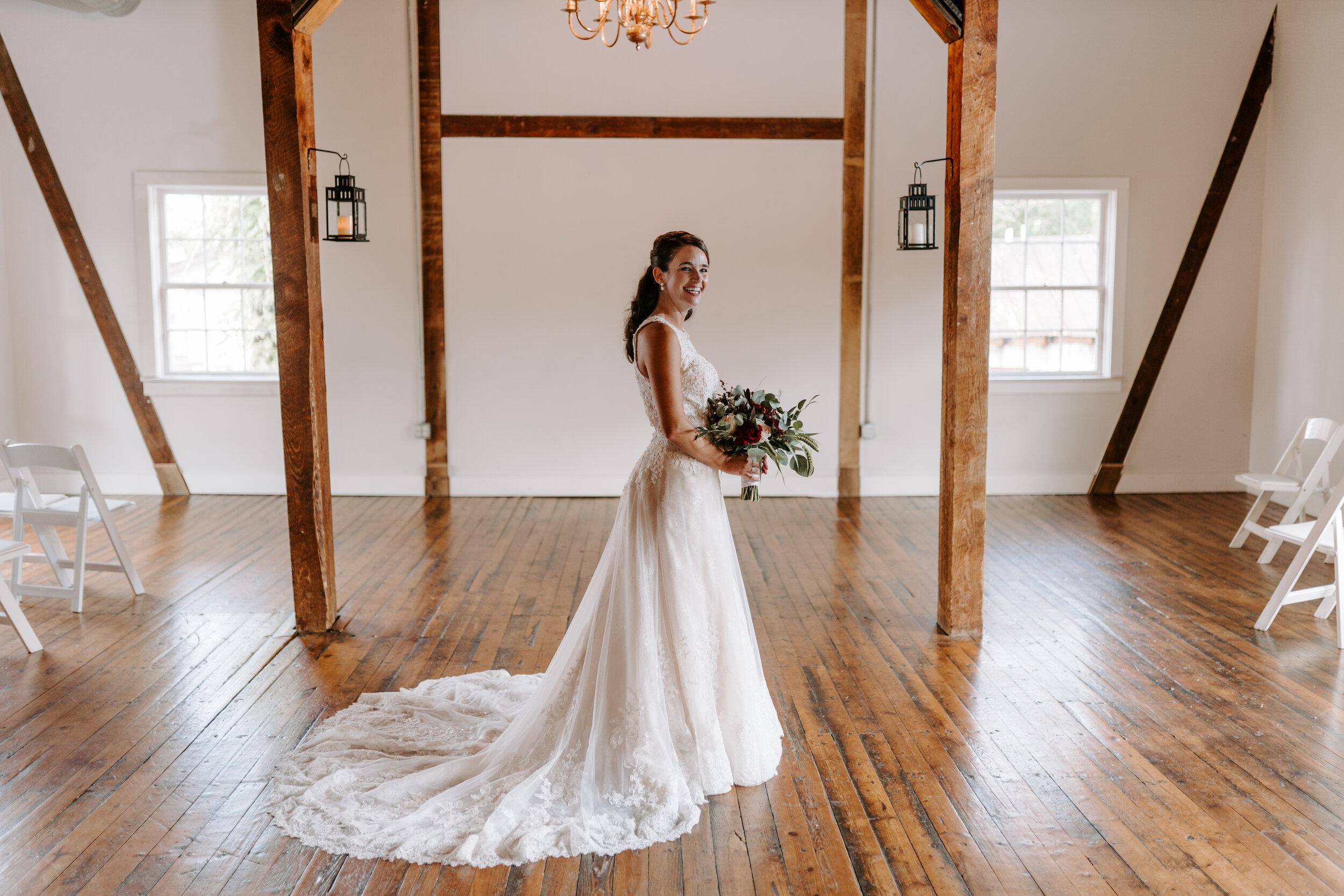 Bridal Portraits Session by Kayli LaFon Photography | Muse At The Mill wedding venue, Winston-Salem, NC