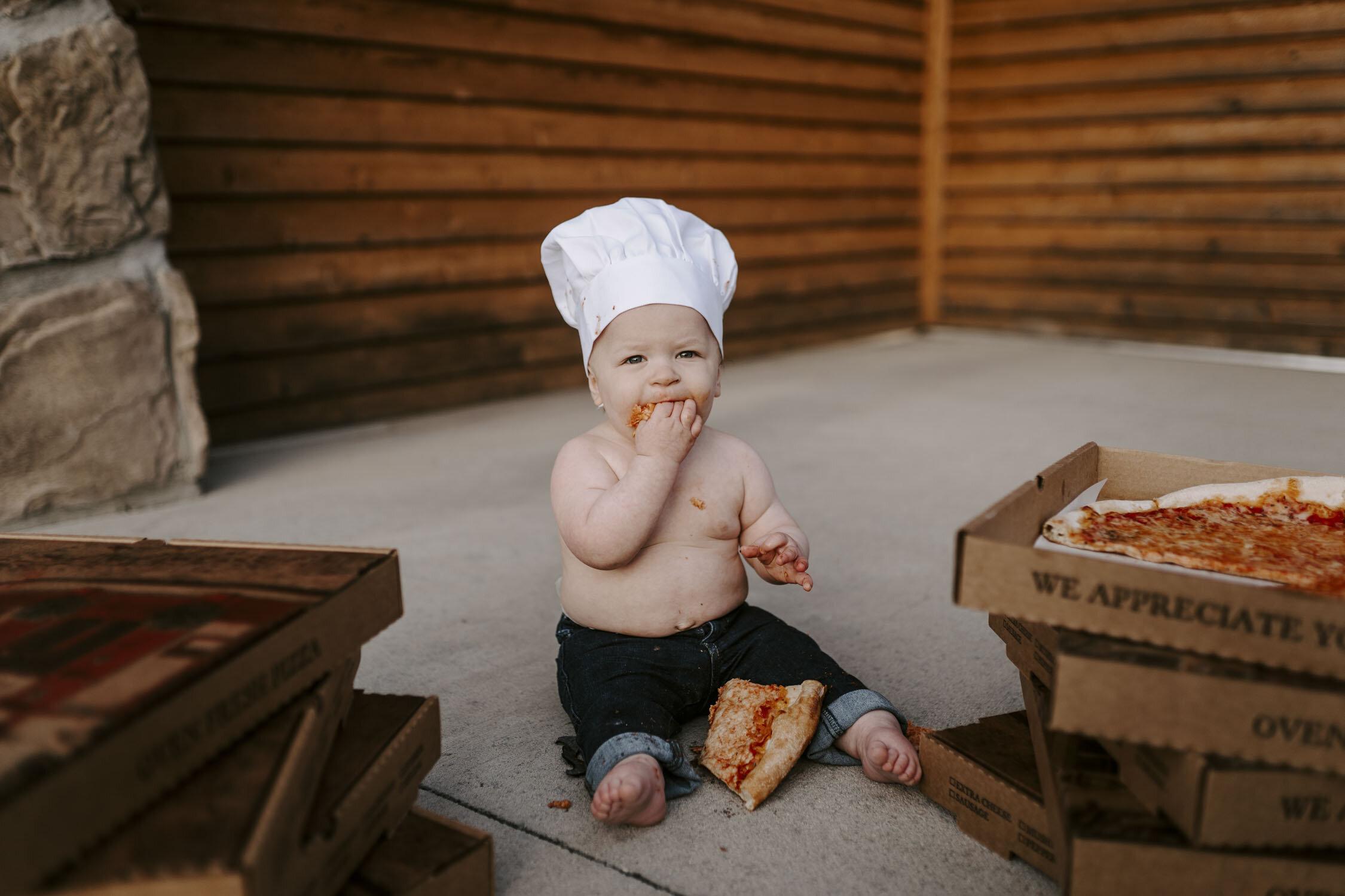 Birthday Pizza Smash, Family Portraits | Triad, NC Photographer