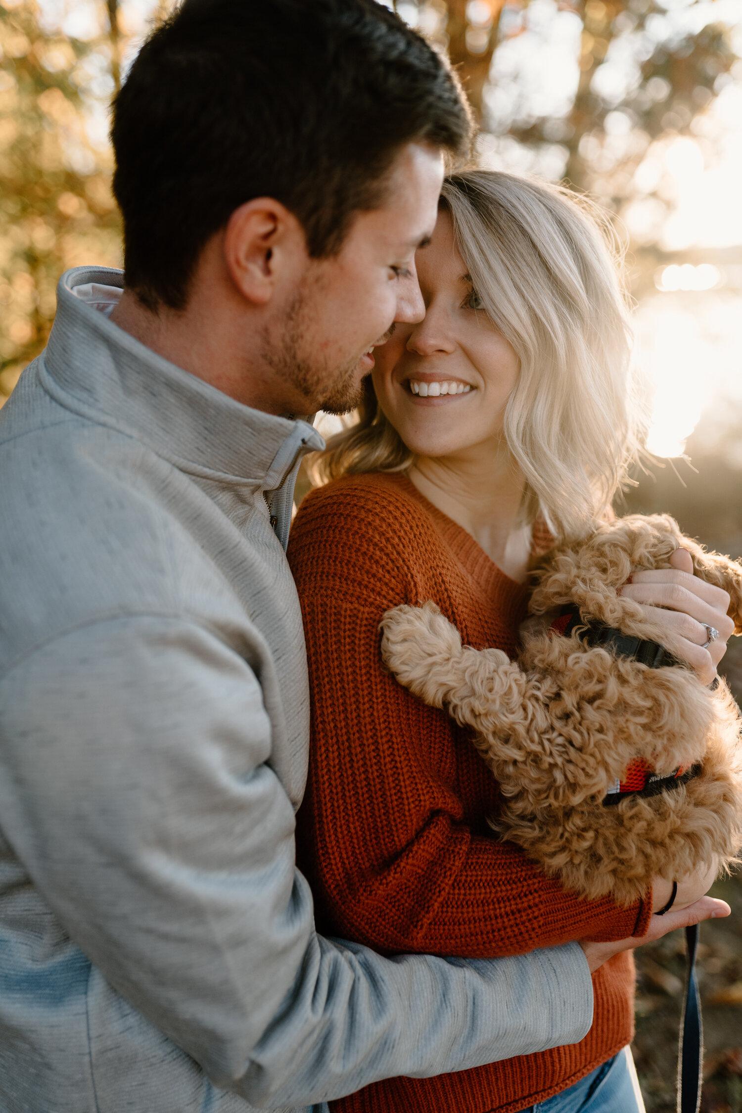Lake Brandt Greensboro, NC Fall Engagement Session | Intimate Wedding & Elopement Photographer