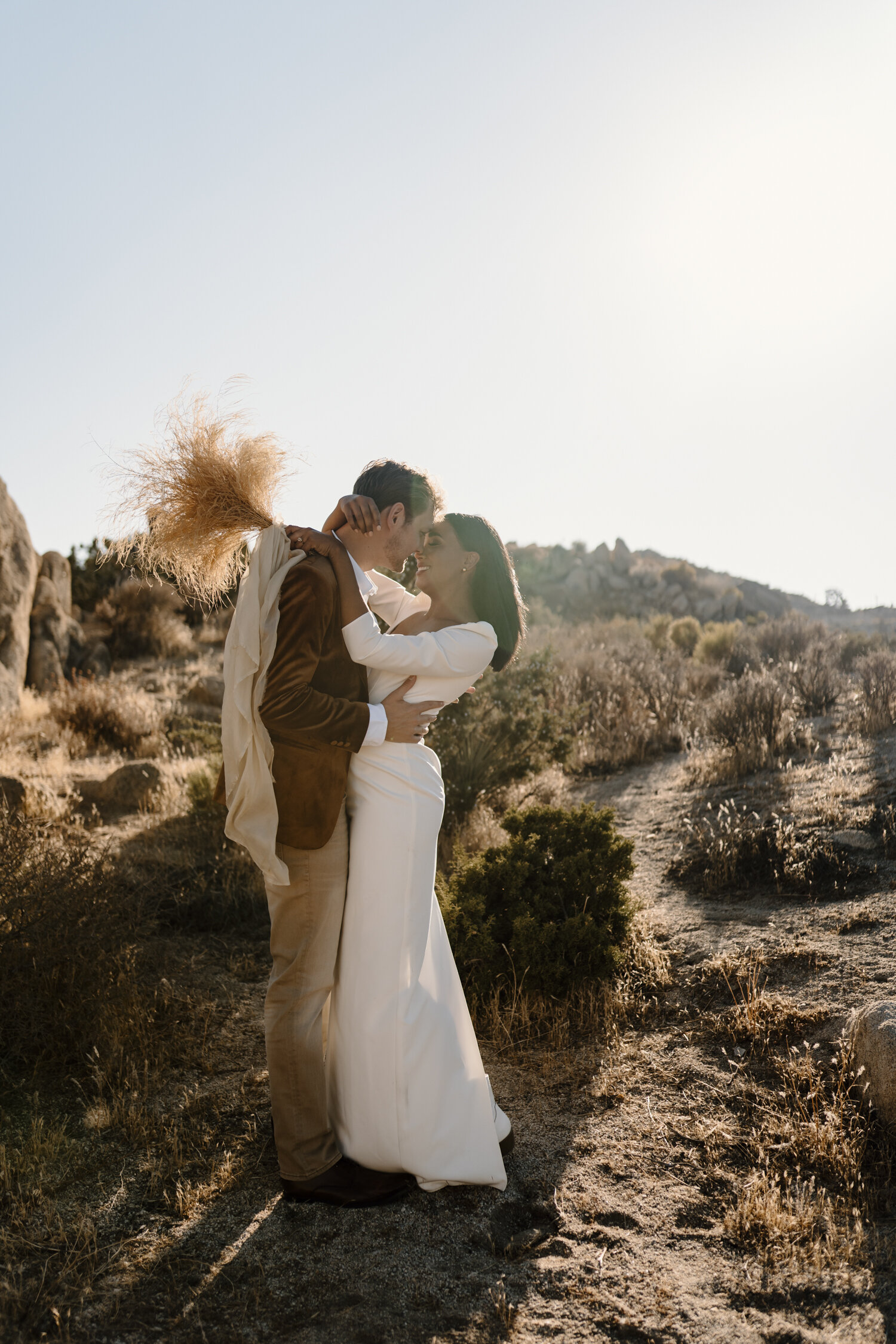Bride and Groom at their intimate elopement