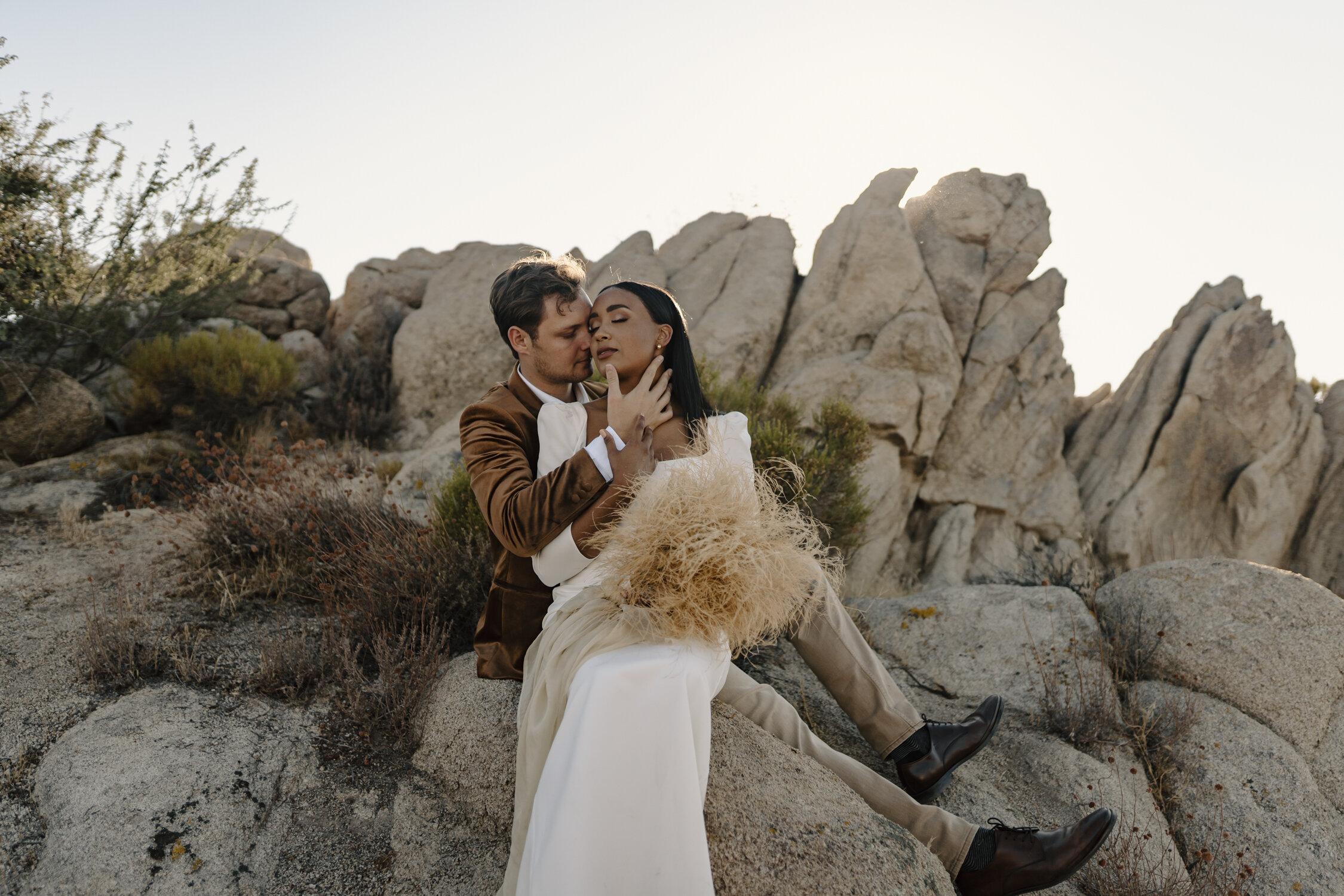 Intimate Elopement Portraits in Joshua Tree by Kayli LaFon Photography