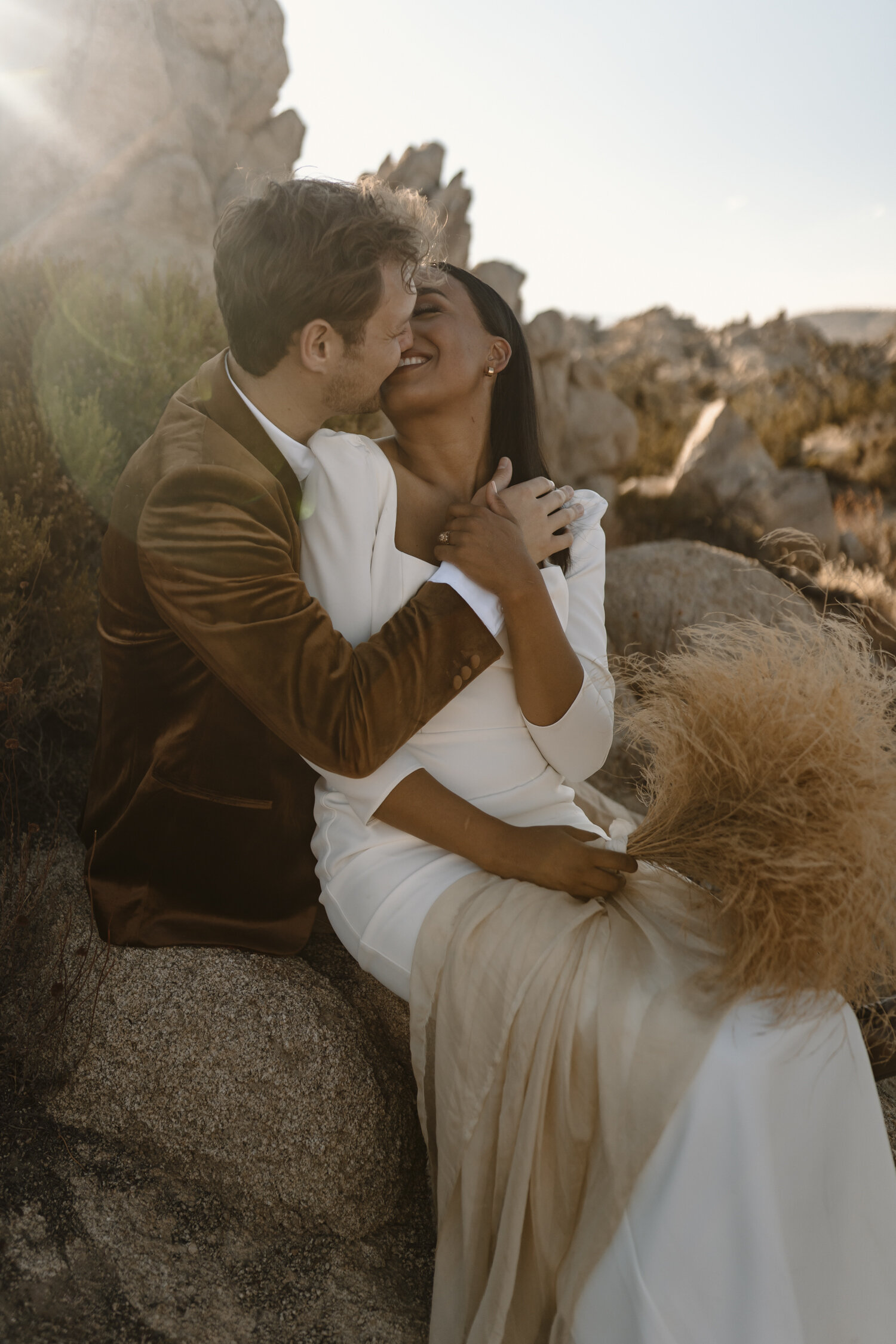Bride and Groom portraits at their SoCal elopement by Kayli LaFon Photography