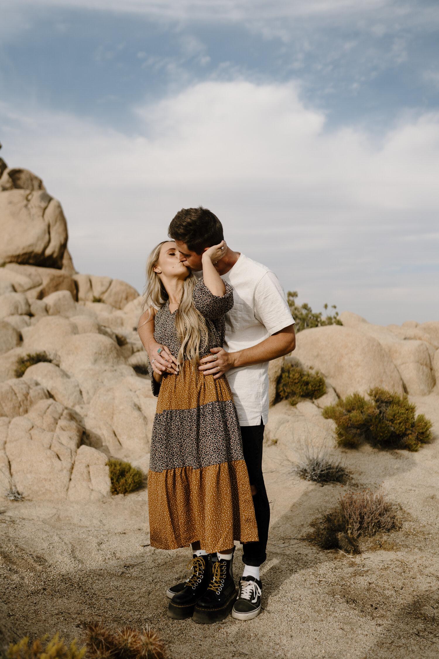 Joshua Tree Intimate Engagement Session by Kayli LaFon Photography