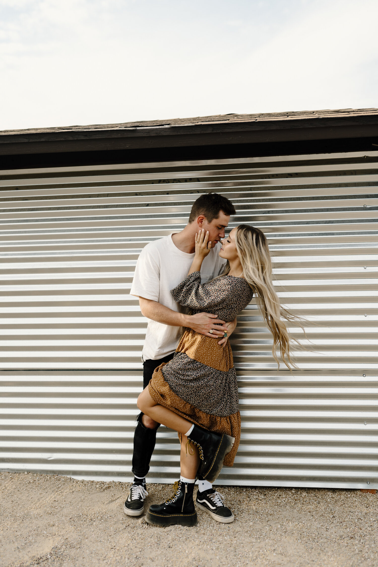 Fun loving couple at their SoCal e-session  by KLP