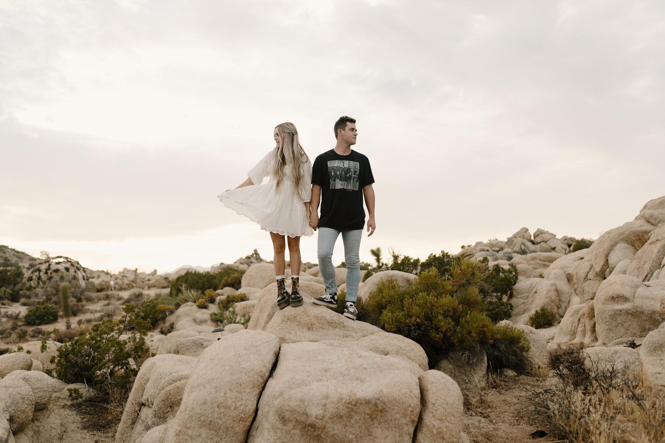 California Engagement Session in Joshua Tree by Kayli LaFon Photography