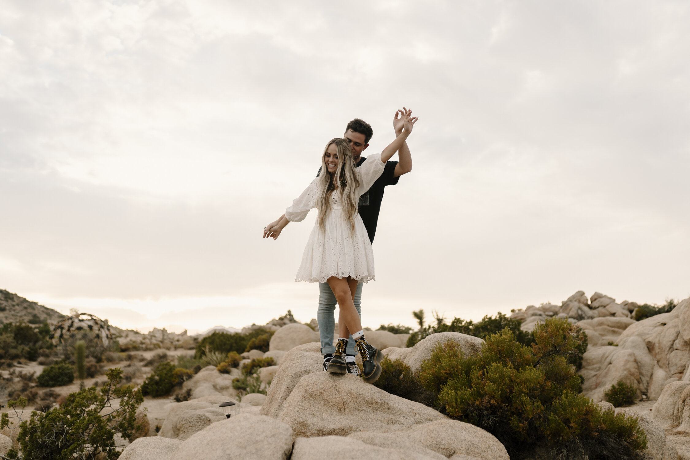 Adventurous Engagement Session in Joshua Tree by Kayli LaFon Photography