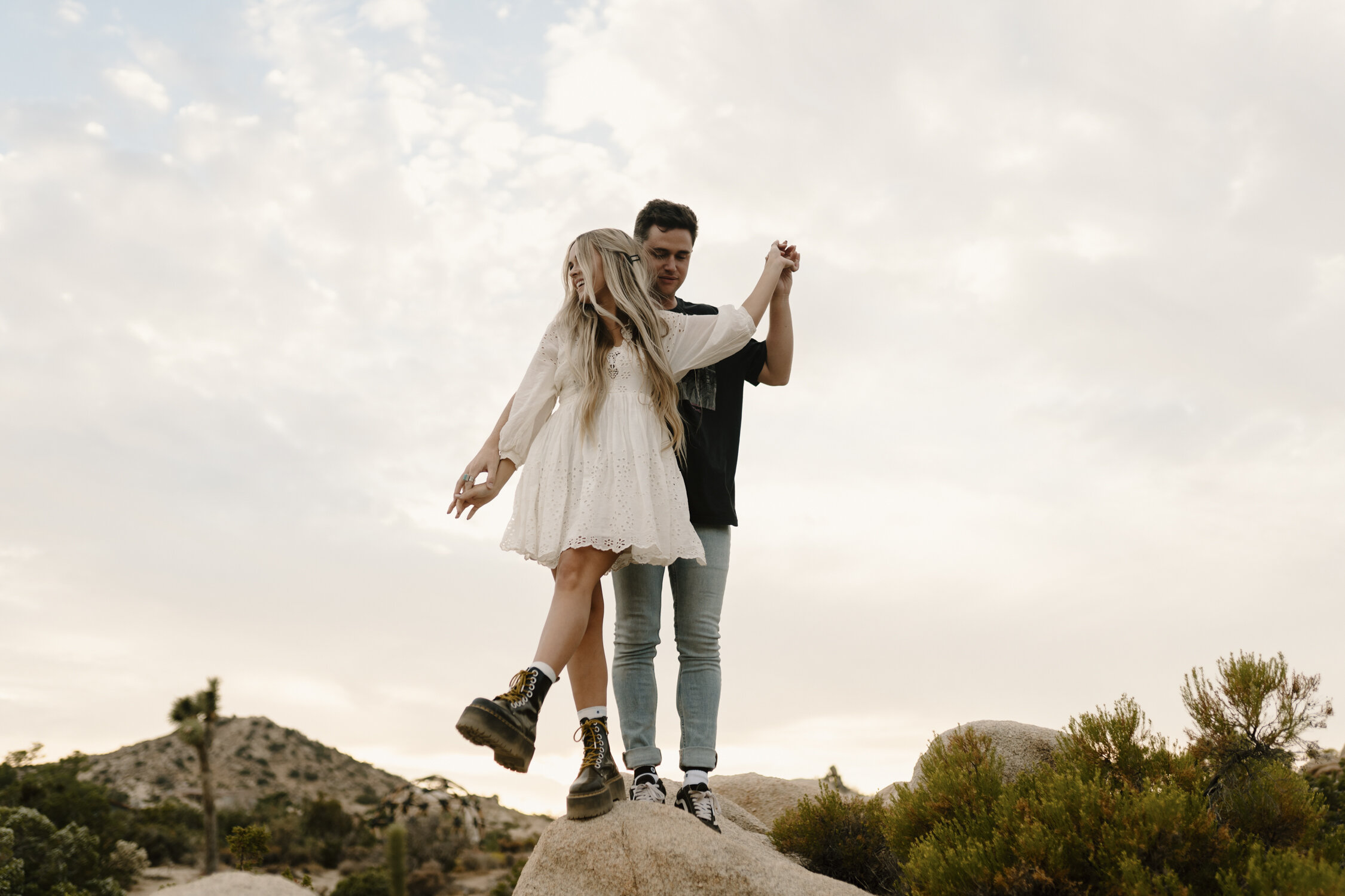 Joshua Tree Engagement session at sunset by KLP