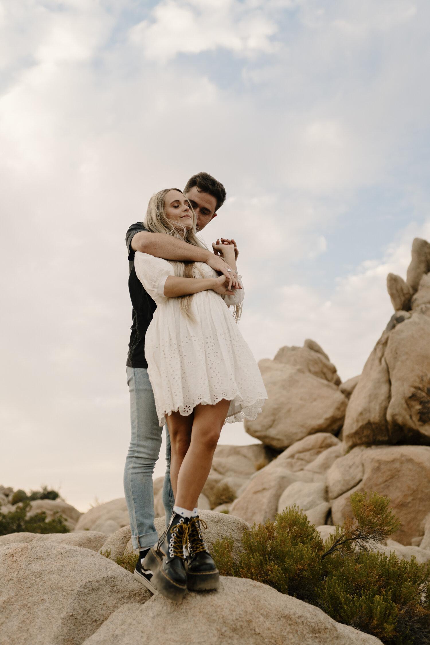 Joshua Tree, California Intimate Engagement Session by Kayli LaFon Photography    travel wedding & elopement photographer