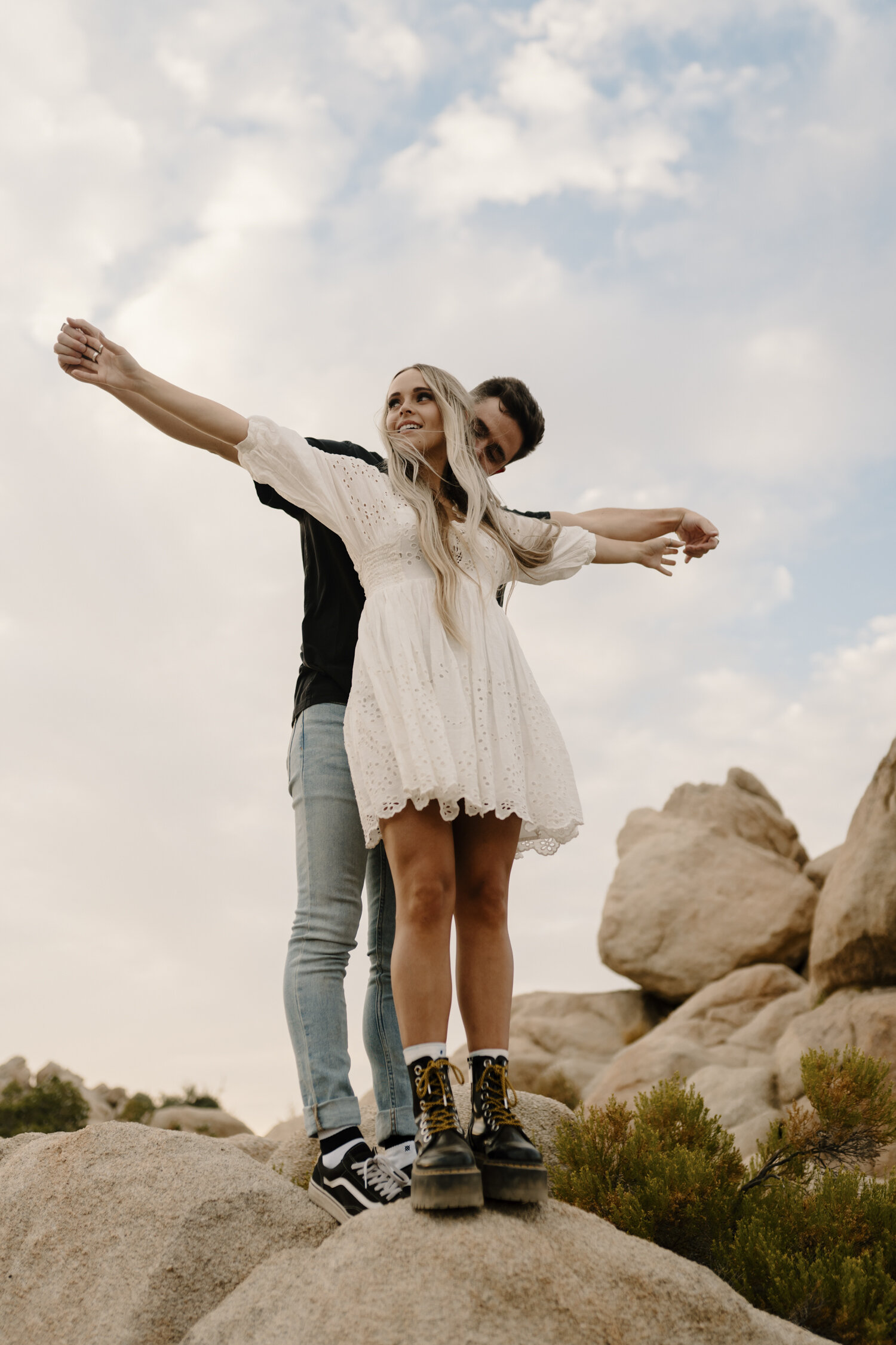 Wild and Free Joshua Tree Engagement Session by KLP