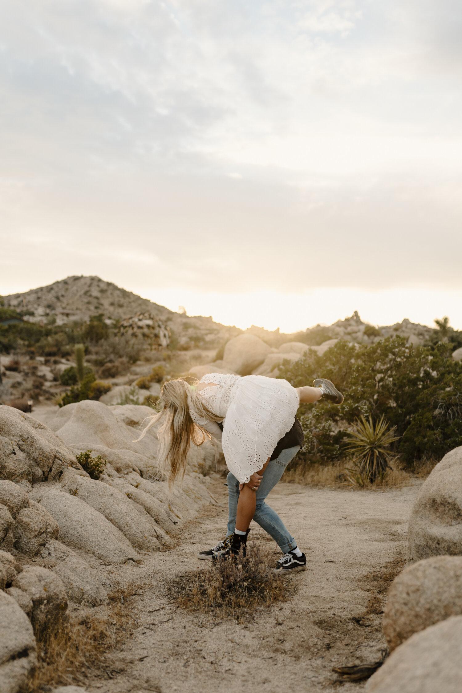 Joshua Tree, California Adventure Engagement Session by Kayli LaFon Photography   NC based travel wedding & elopement photographer