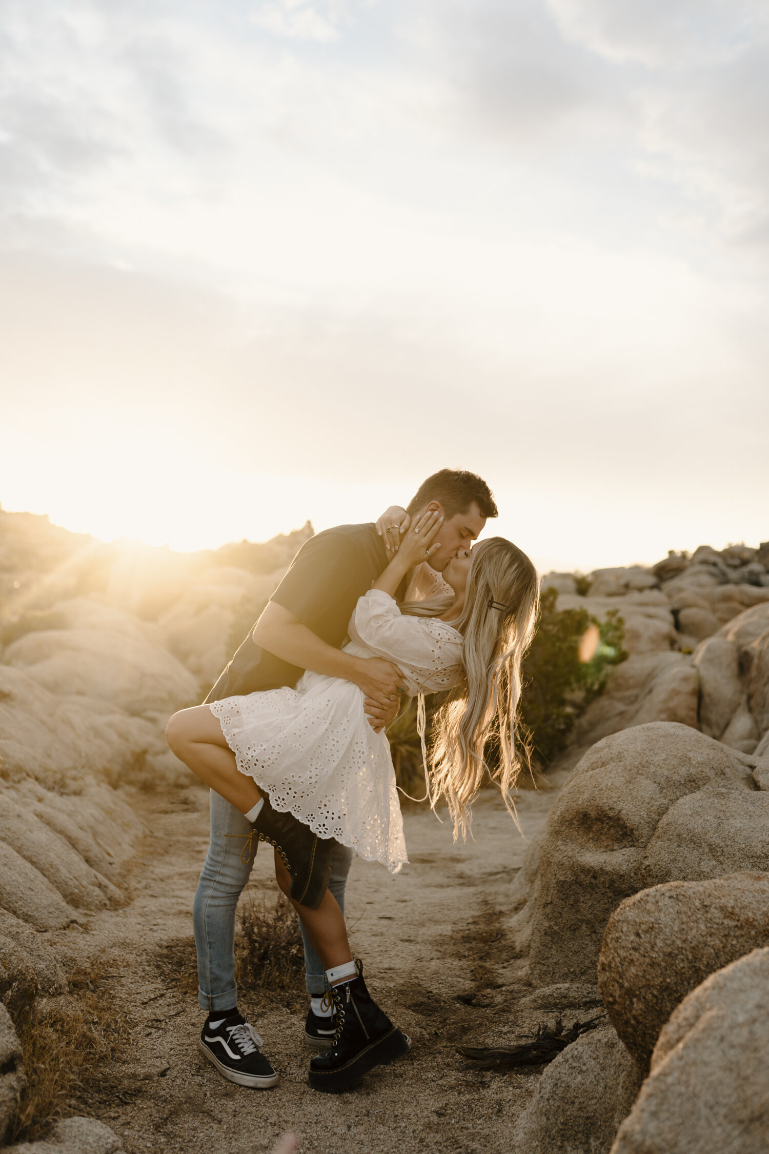 Romantic golden hour engagement session in Joshua Tree by Kayli LaFon Photography