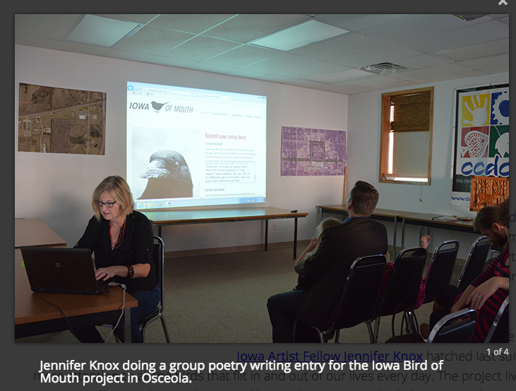 Crow-dsourcing verses at the Clarke County Arts Council. Awesome people!