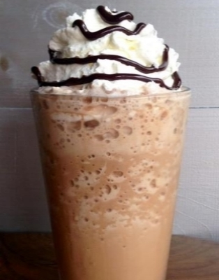 """Boston.com: """"This frozen delight, served at two MV locations...starts with Barrington Coffee Roaster's Gold Espresso."""""""