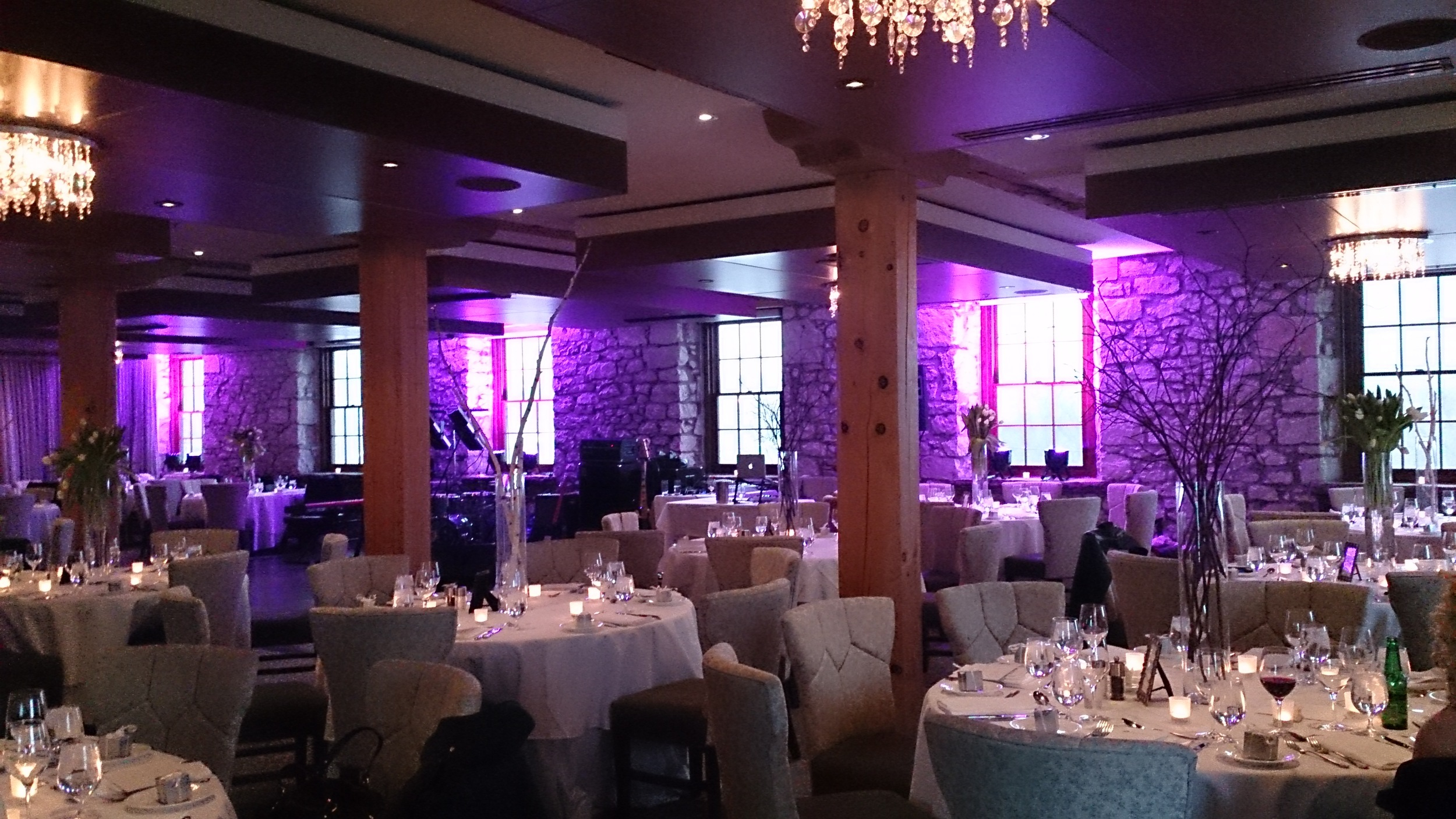 Wedding Reception Room Setup at Cambridge Mill