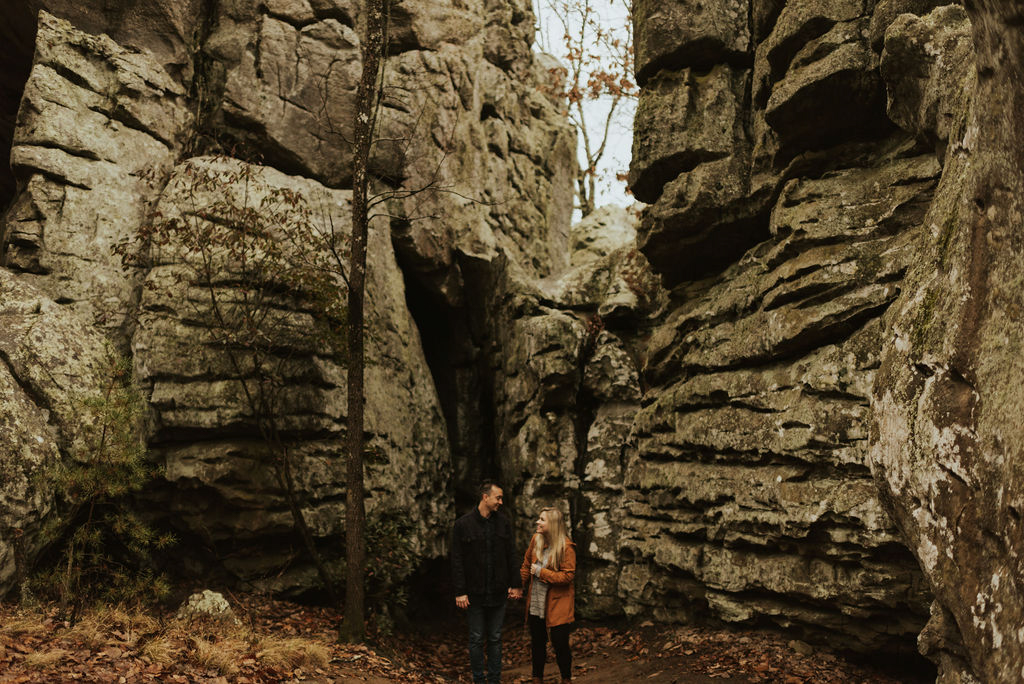 adventurous engagement session at a boulder field in alabama 01.jpg