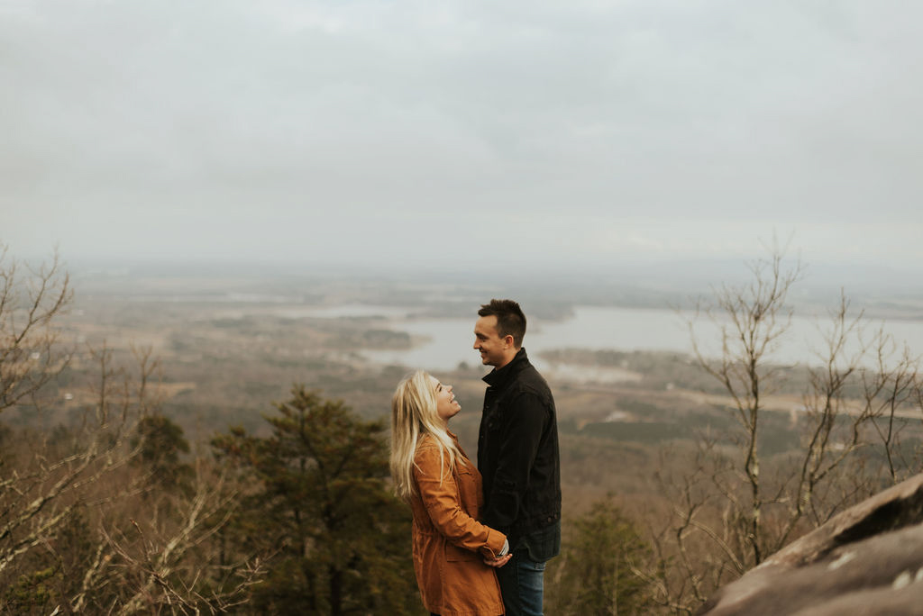 adventurous engagement session at a boulder field in alabama 14.jpg