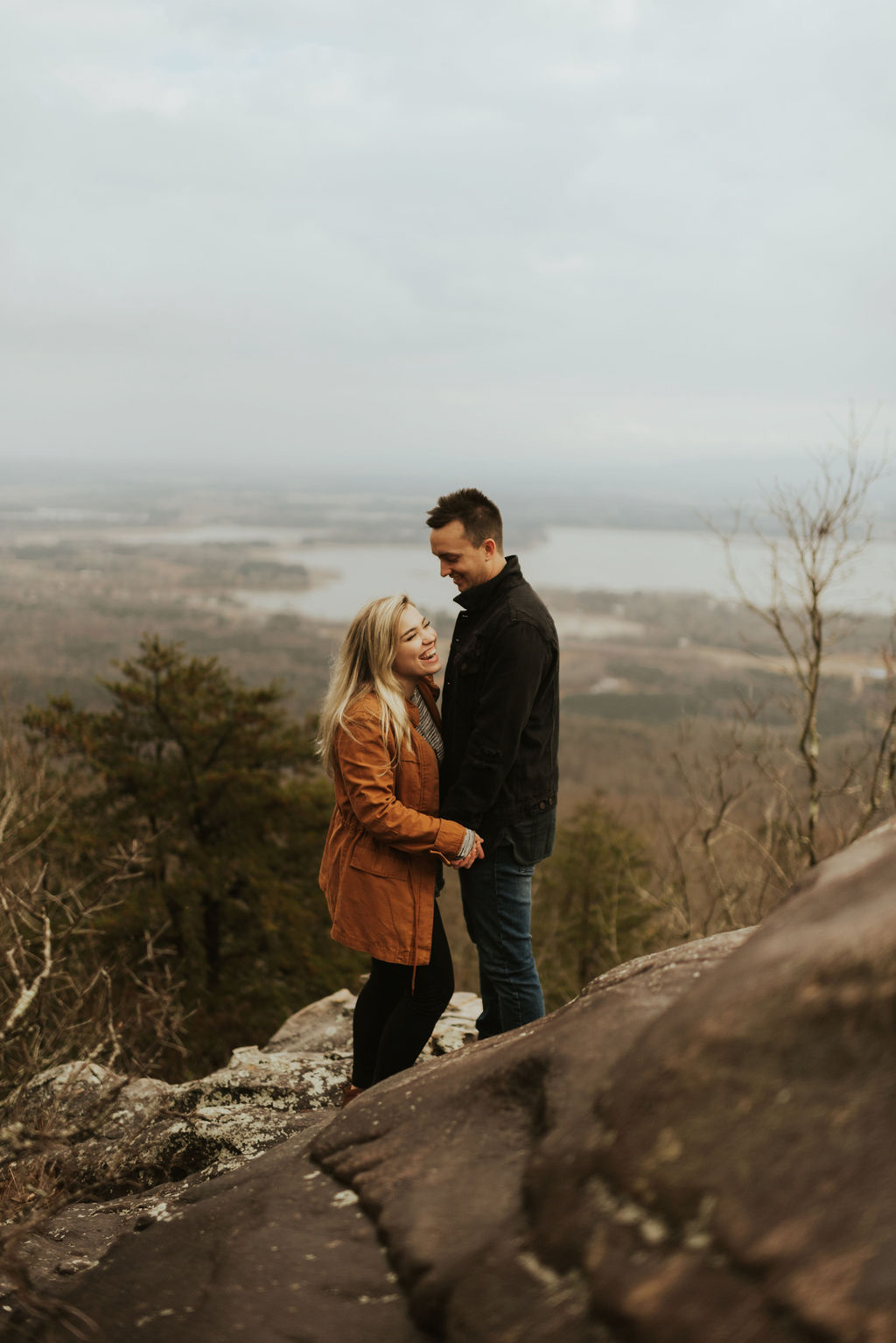 adventurous engagement session at a boulder field in alabama 15.jpg