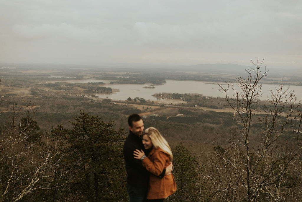 adventurous engagement session at a boulder field in alabama 19.jpg