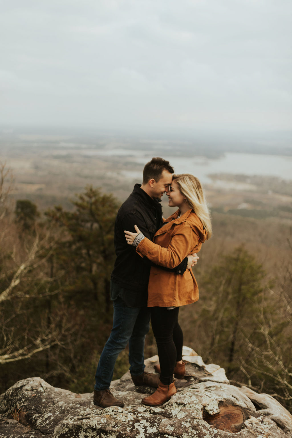 adventurous engagement session at a boulder field in alabama 21.jpg