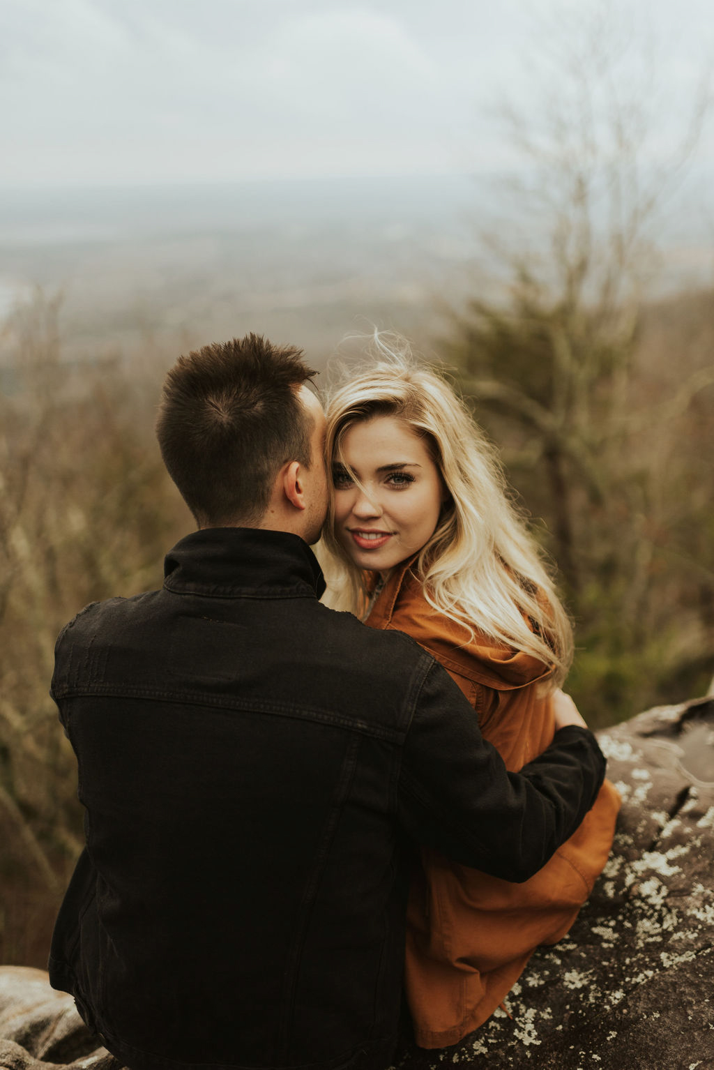 adventurous engagement session at a boulder field in alabama 26.jpg