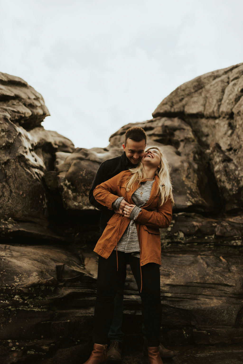 adventurous engagement session at a boulder field in alabama 31.jpg