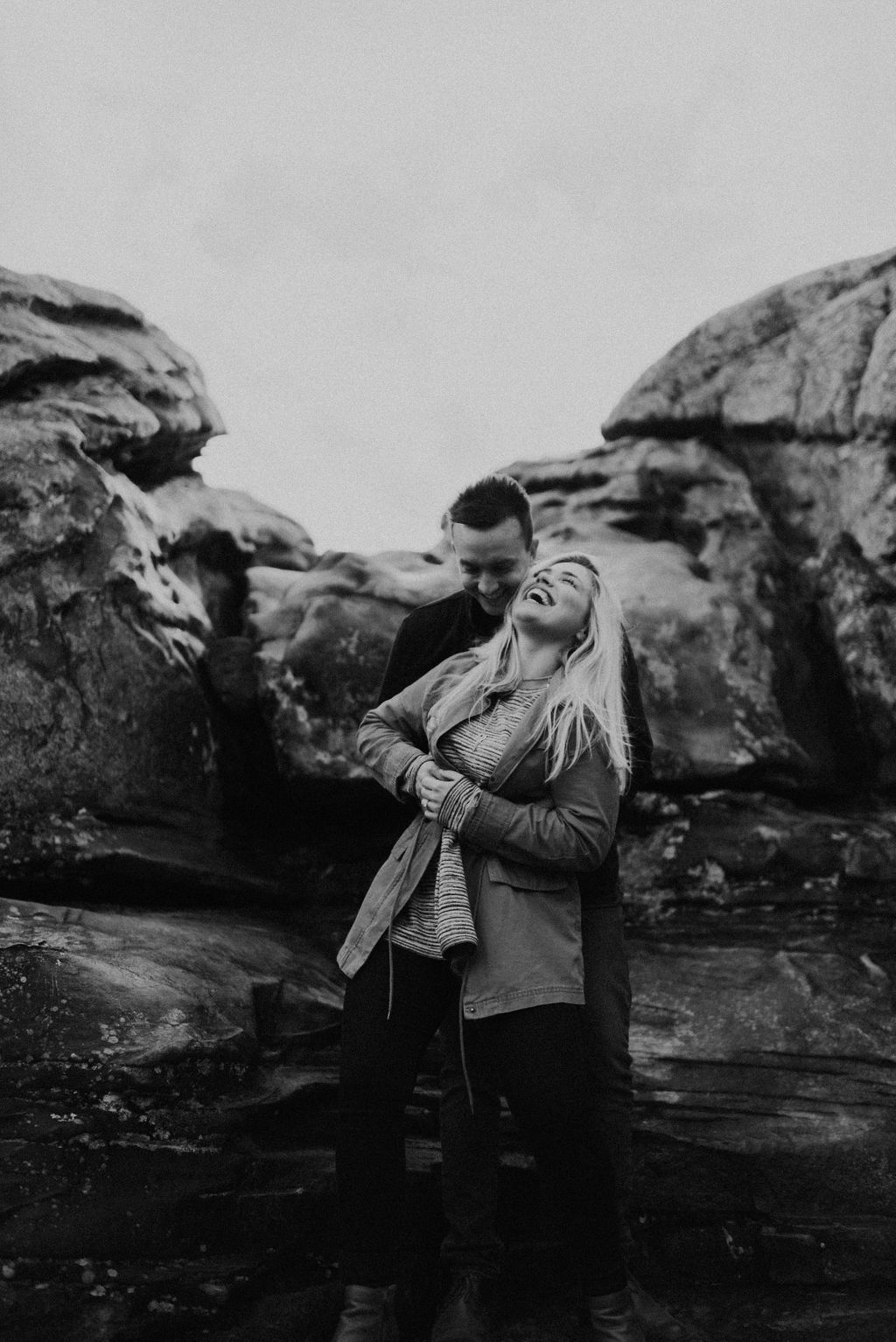 adventurous engagement session at a boulder field in alabama 32.jpg