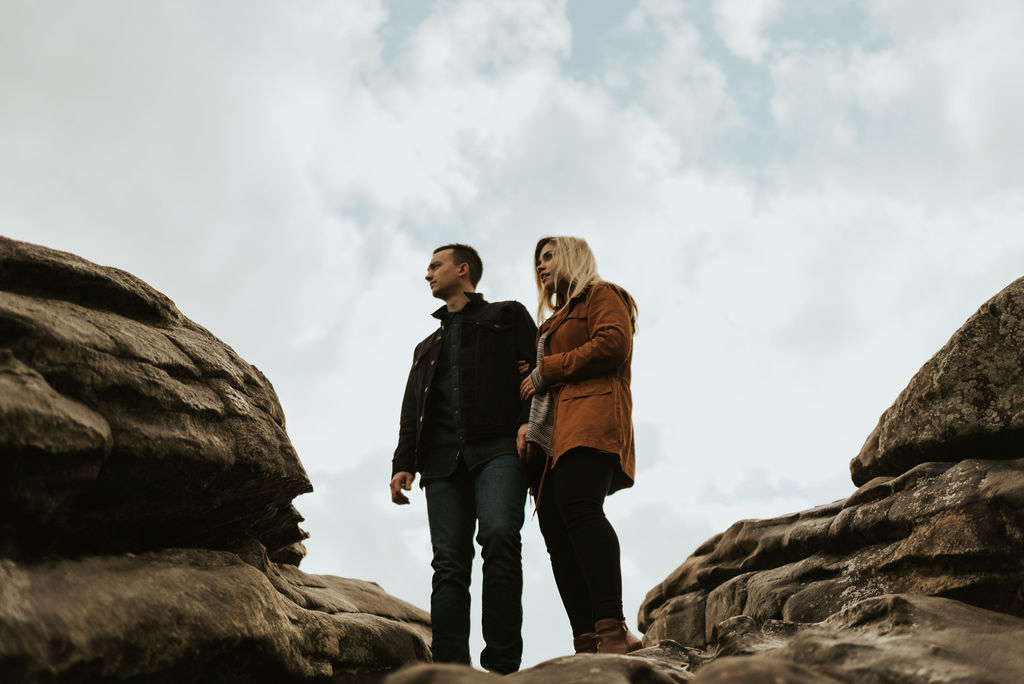 adventurous engagement session at a boulder field in alabama 35.jpg