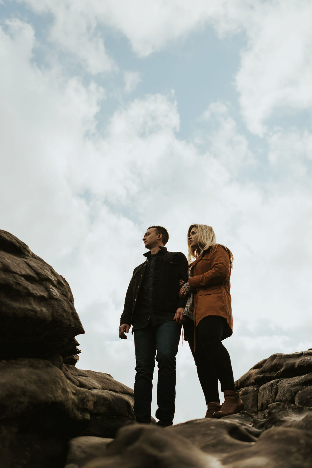 adventurous engagement session at a boulder field in alabama 36.jpg