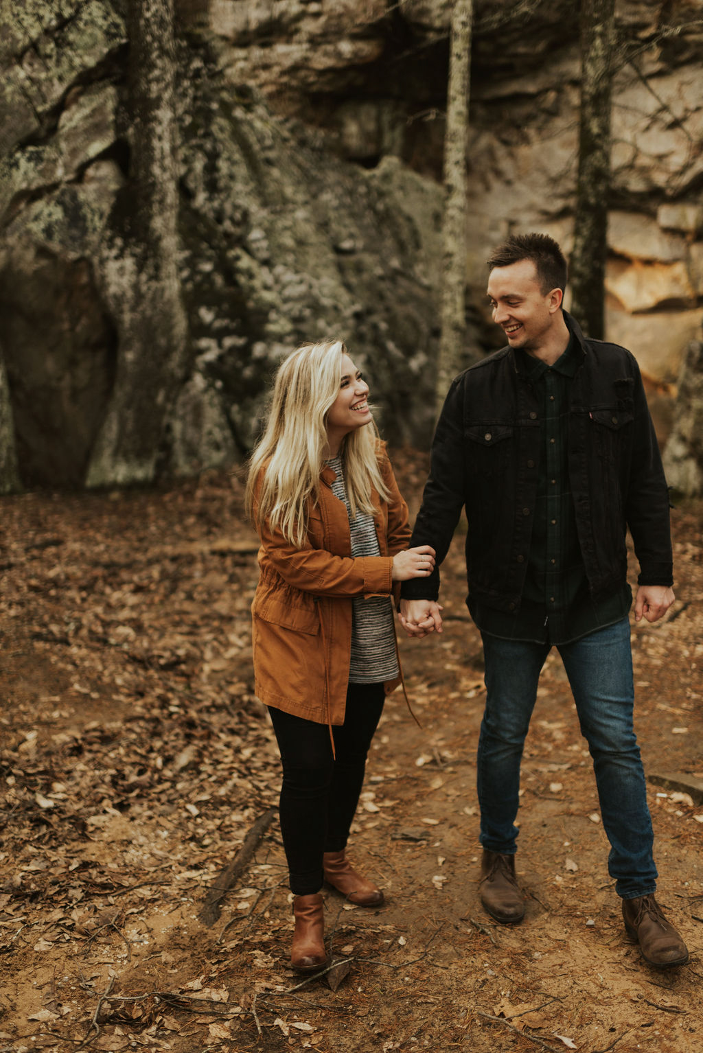 adventurous engagement session at a boulder field in alabama 38.jpg