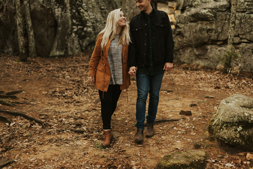 adventurous engagement session at a boulder field in alabama 39.jpg