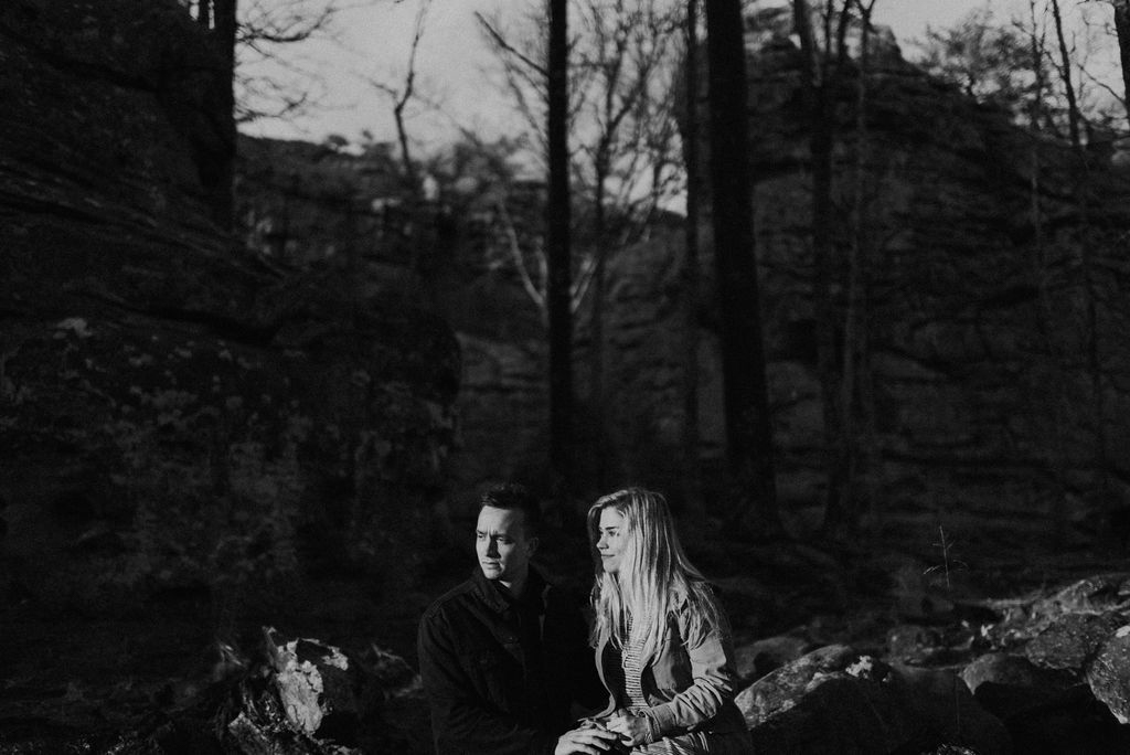 adventurous engagement session at a boulder field in alabama 46.jpg