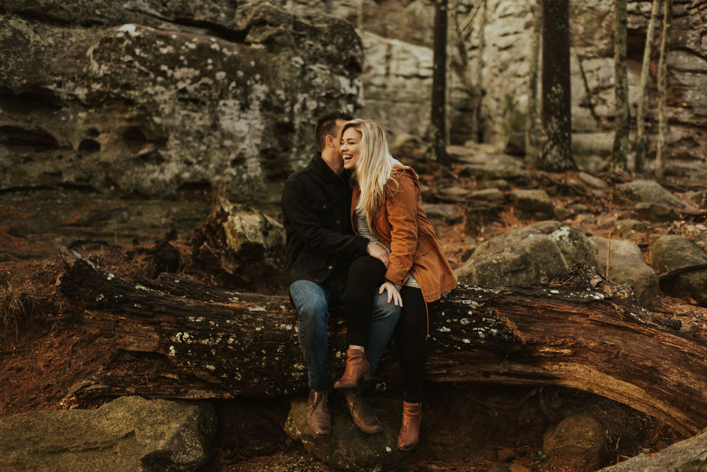 adventurous engagement session at a boulder field in alabama 49.jpg