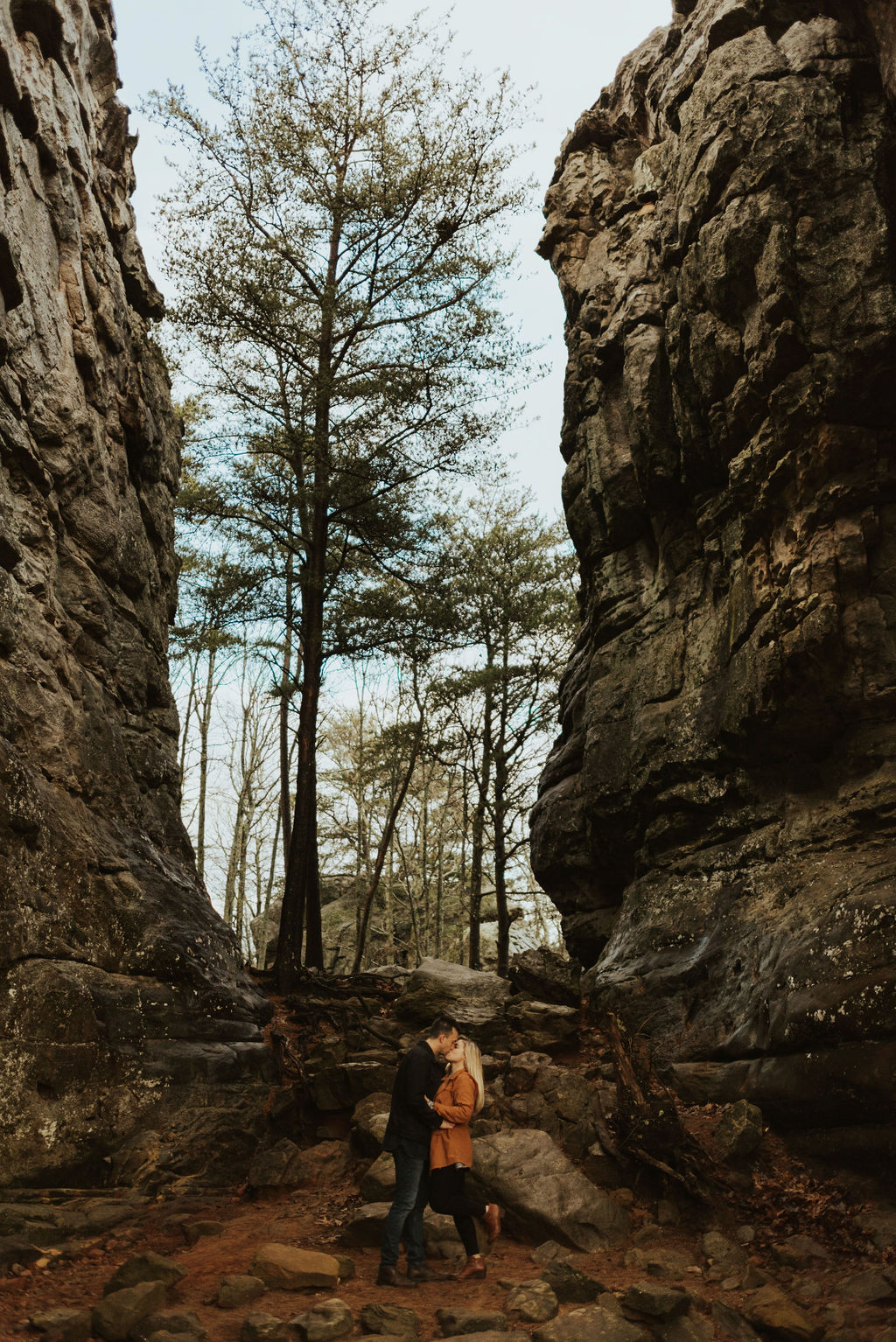 adventurous engagement session at a boulder field in alabama 53.jpg
