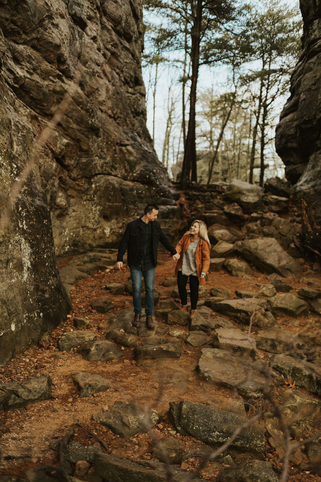adventurous engagement session at a boulder field in alabama 54.jpg