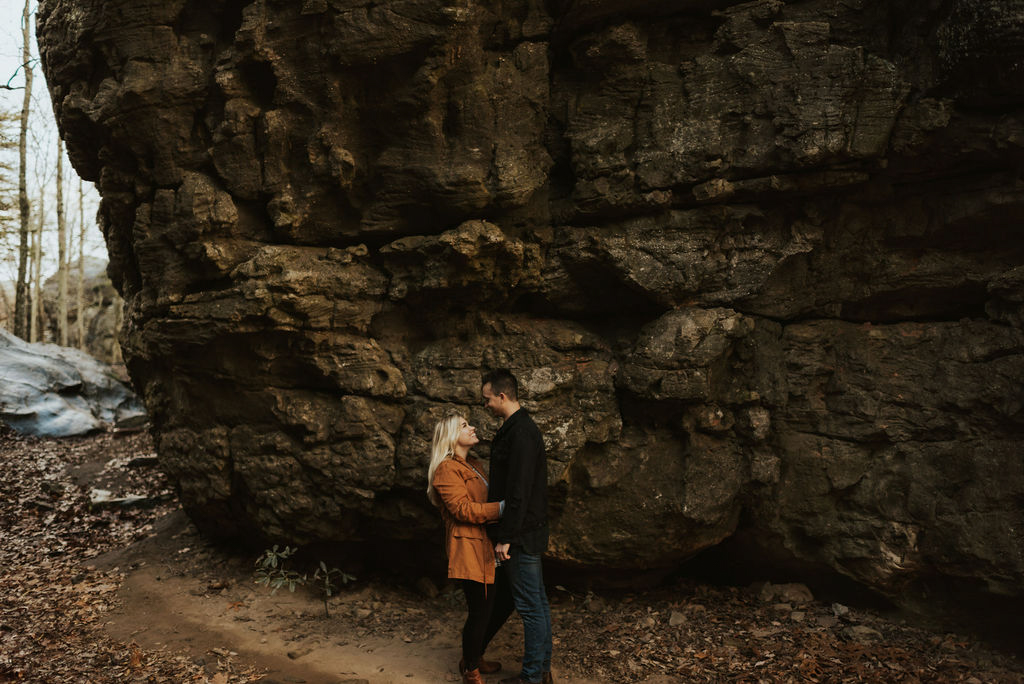 adventurous engagement session at a boulder field in alabama 57.jpg