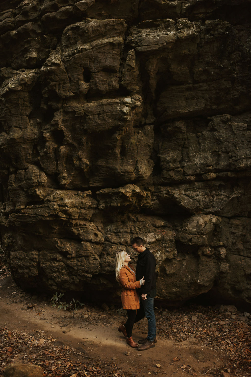 adventurous engagement session at a boulder field in alabama 56.jpg
