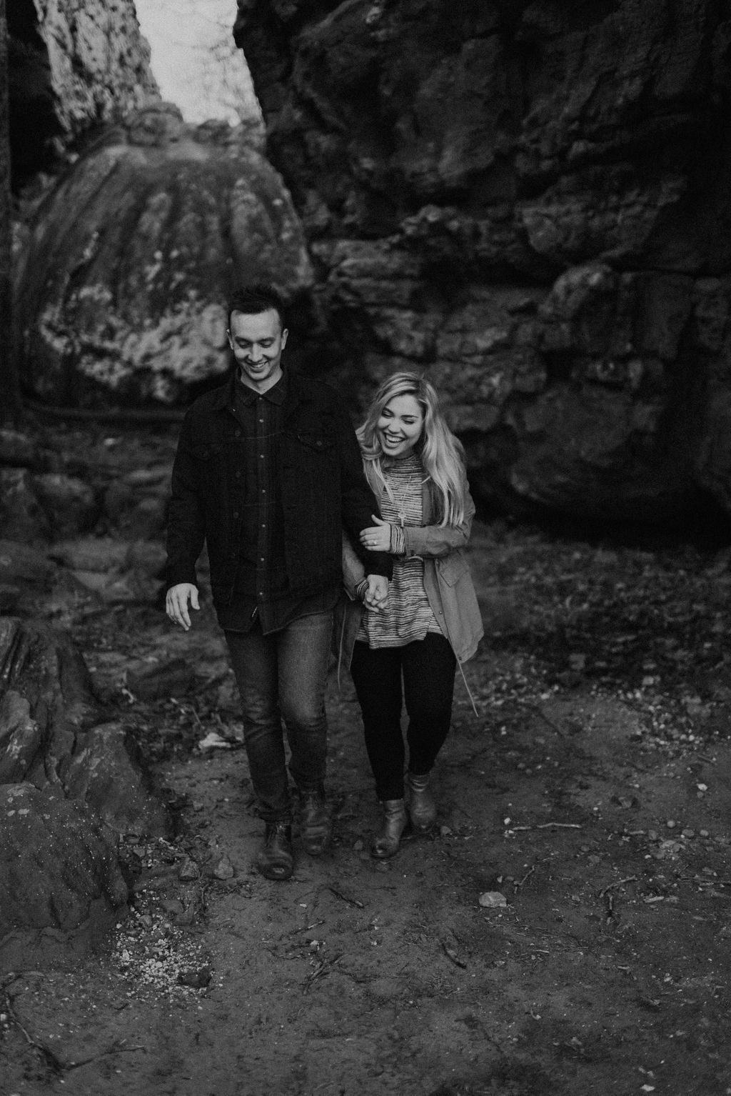 adventurous engagement session at a boulder field in alabama 59.jpg