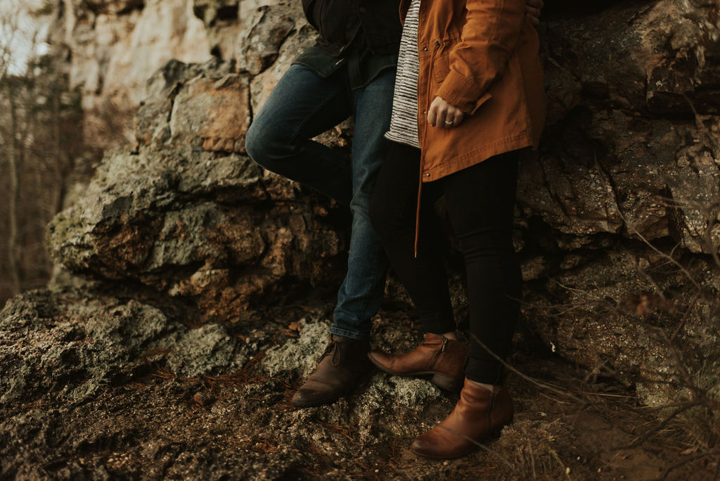 adventurous engagement session at a boulder field in alabama 61.jpg