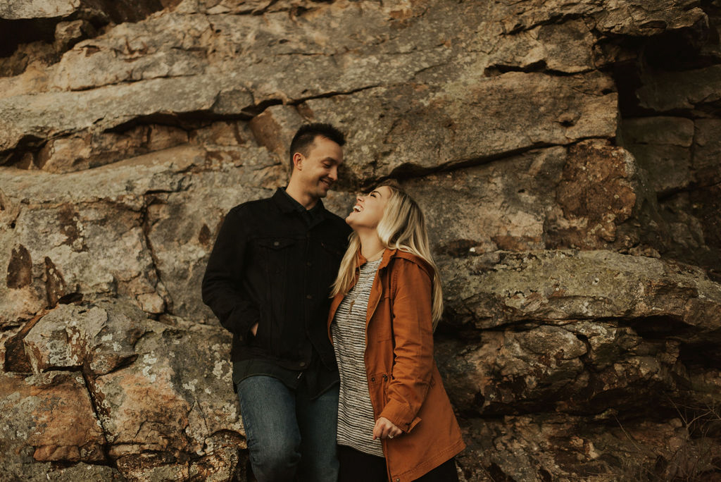 adventurous engagement session at a boulder field in alabama 63.jpg
