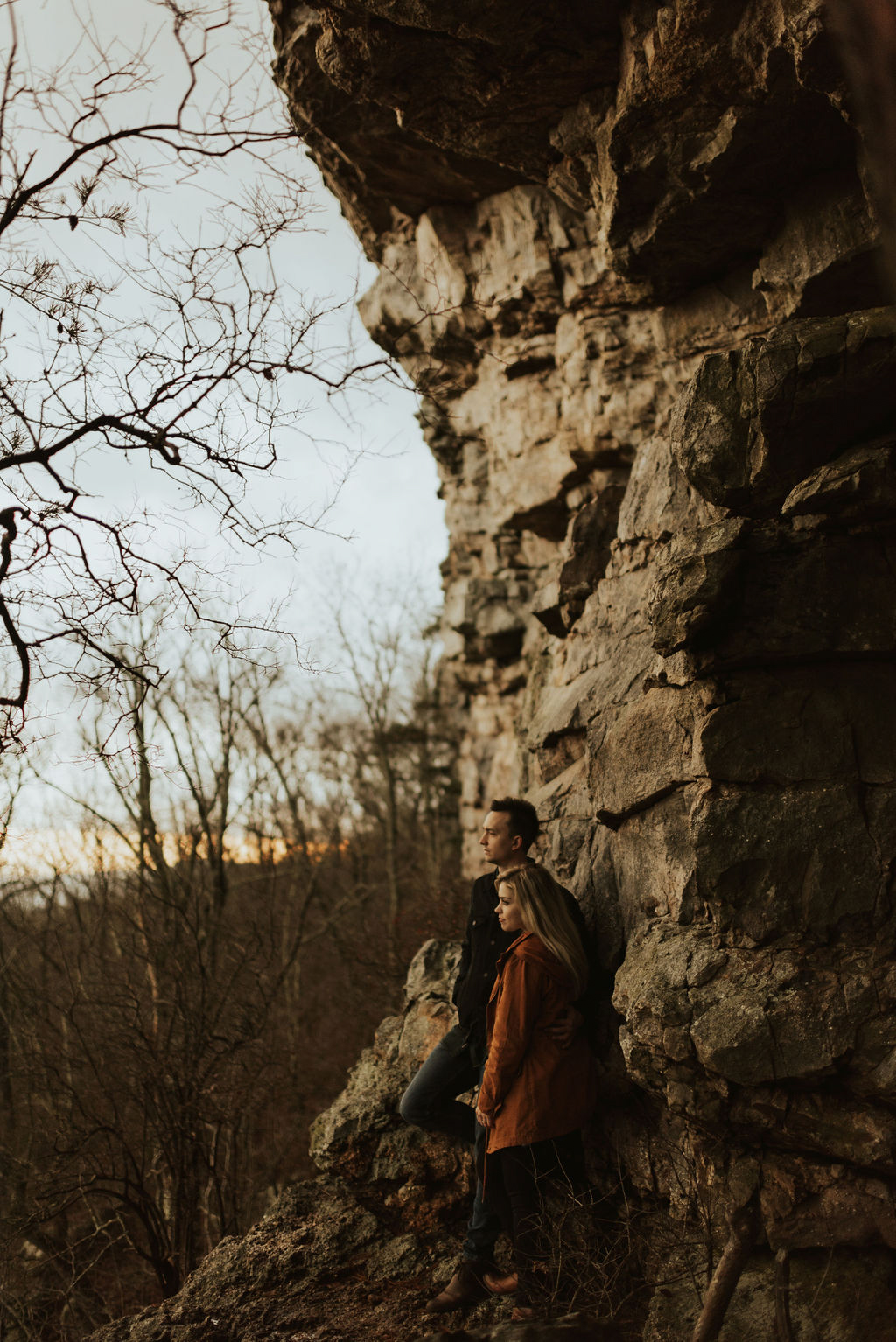 adventurous engagement session at a boulder field in alabama 64.jpg
