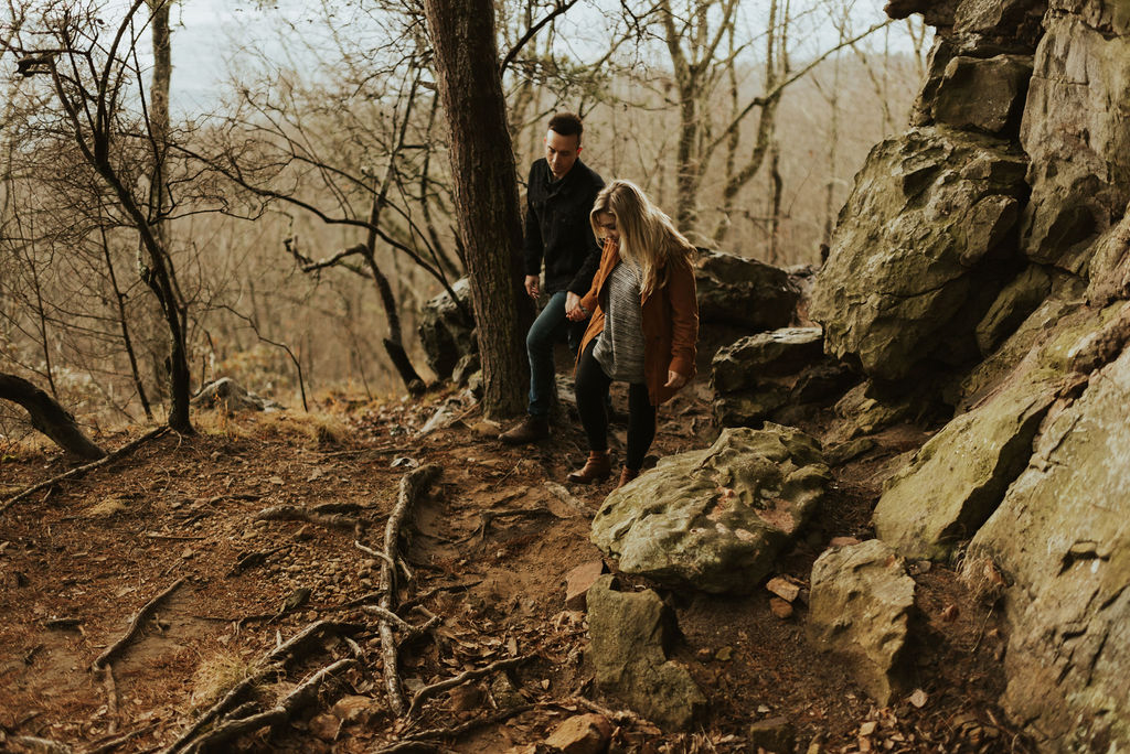 adventurous engagement session at a boulder field in alabama 65.jpg