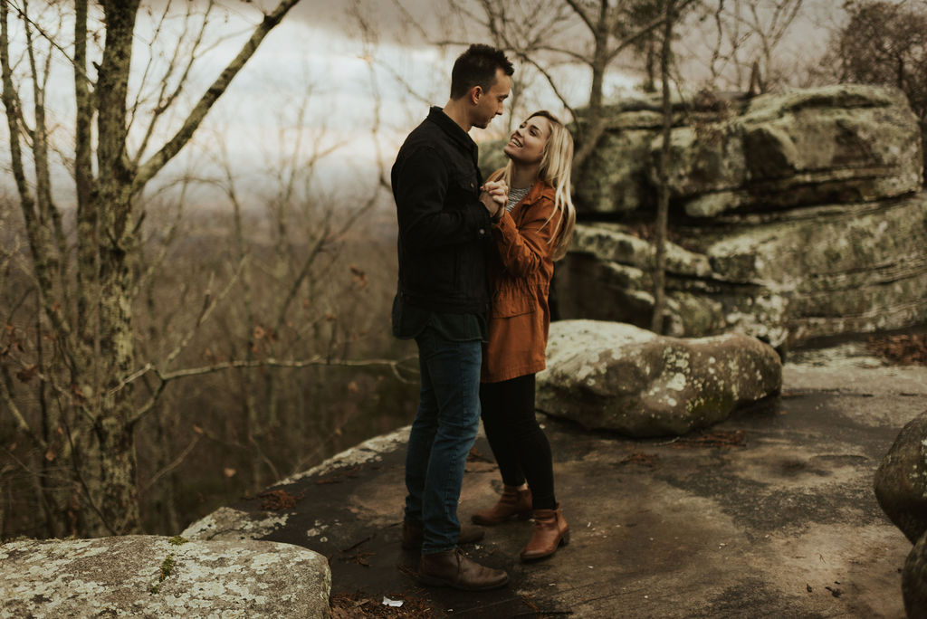 adventurous engagement session at a boulder field in alabama 66.jpg
